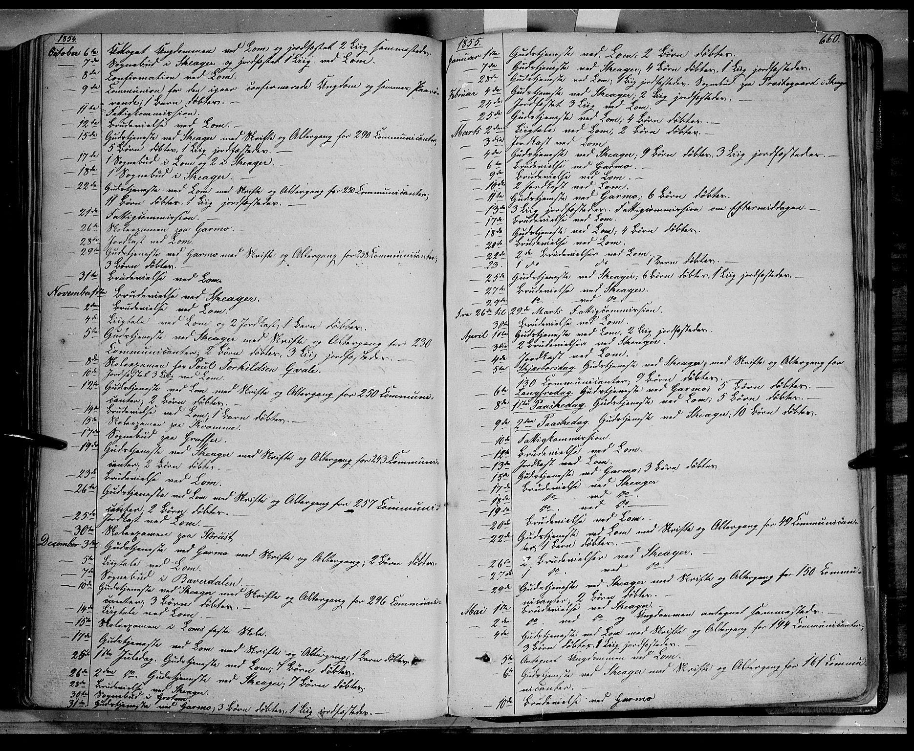 SAH, Lom prestekontor, K/L0006: Ministerialbok nr. 6B, 1837-1863, s. 660