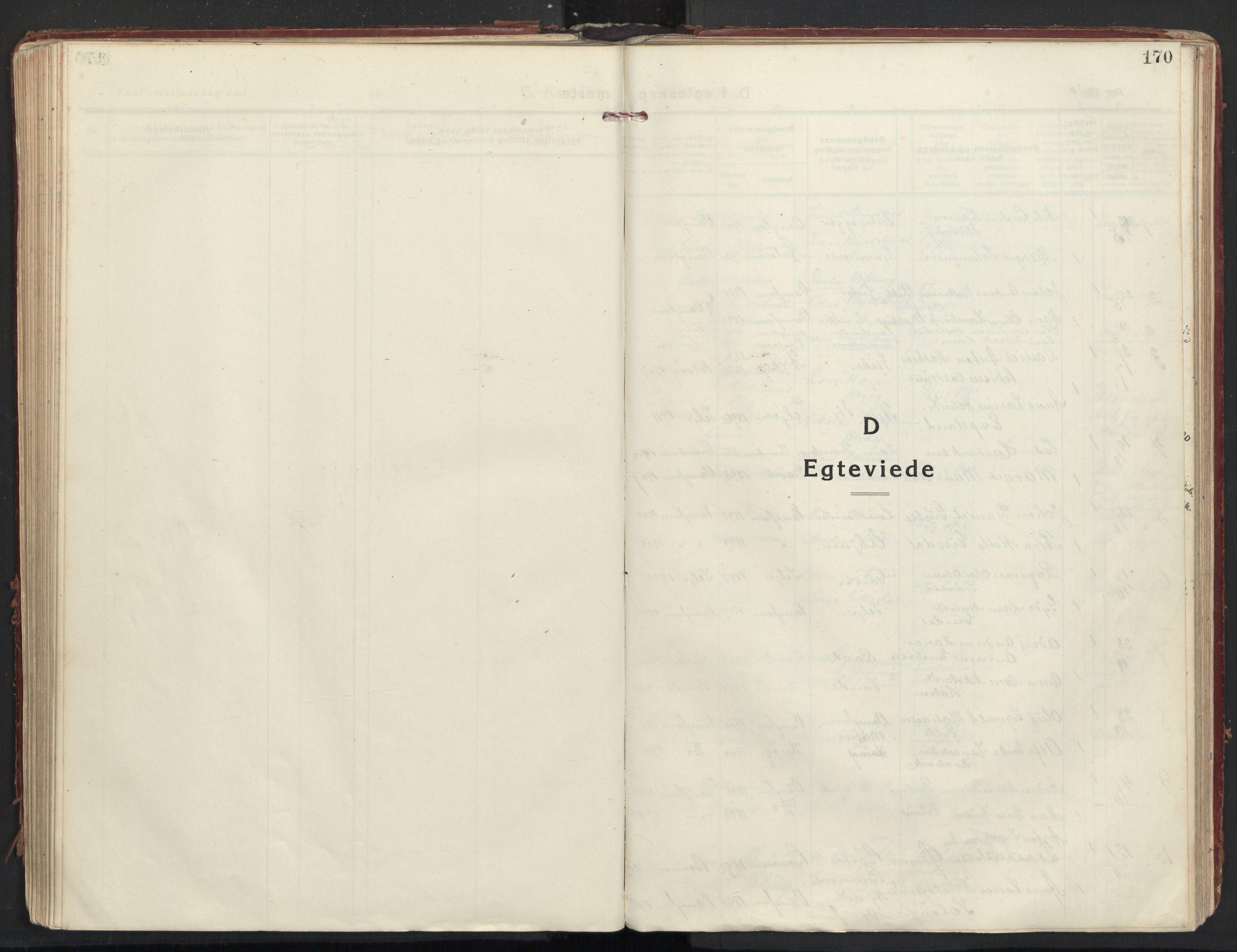 SAT, Ministerialprotokoller, klokkerbøker og fødselsregistre - Møre og Romsdal, 501/L0012: Ministerialbok nr. 501A12, 1920-1946, s. 170