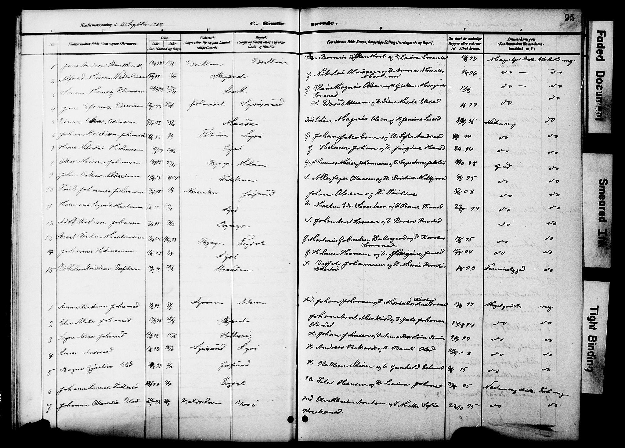 SAT, Ministerialprotokoller, klokkerbøker og fødselsregistre - Sør-Trøndelag, 654/L0666: Klokkerbok nr. 654C02, 1901-1925, s. 95