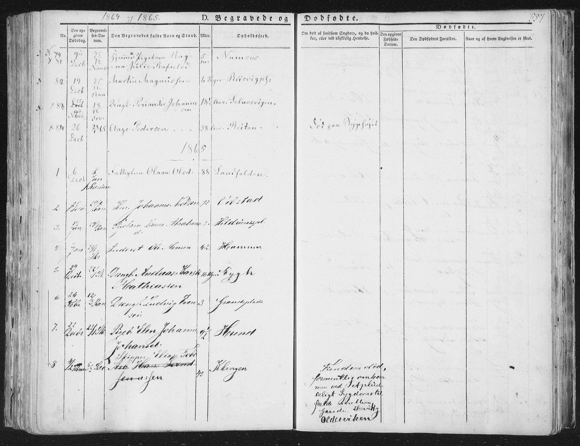 SAT, Ministerialprotokoller, klokkerbøker og fødselsregistre - Nord-Trøndelag, 764/L0552: Ministerialbok nr. 764A07b, 1824-1865, s. 557