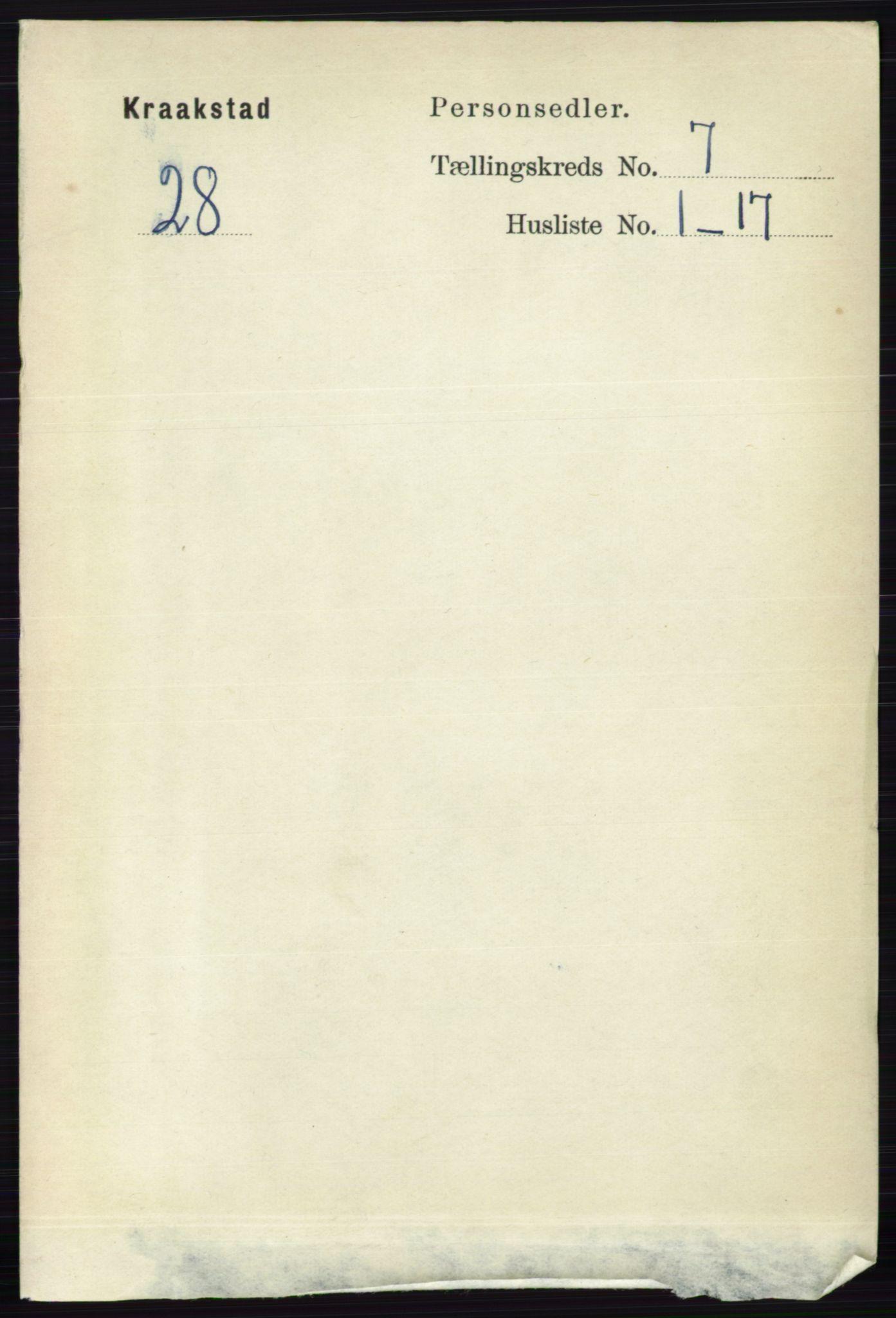 RA, Folketelling 1891 for 0212 Kråkstad herred, 1891, s. 3345