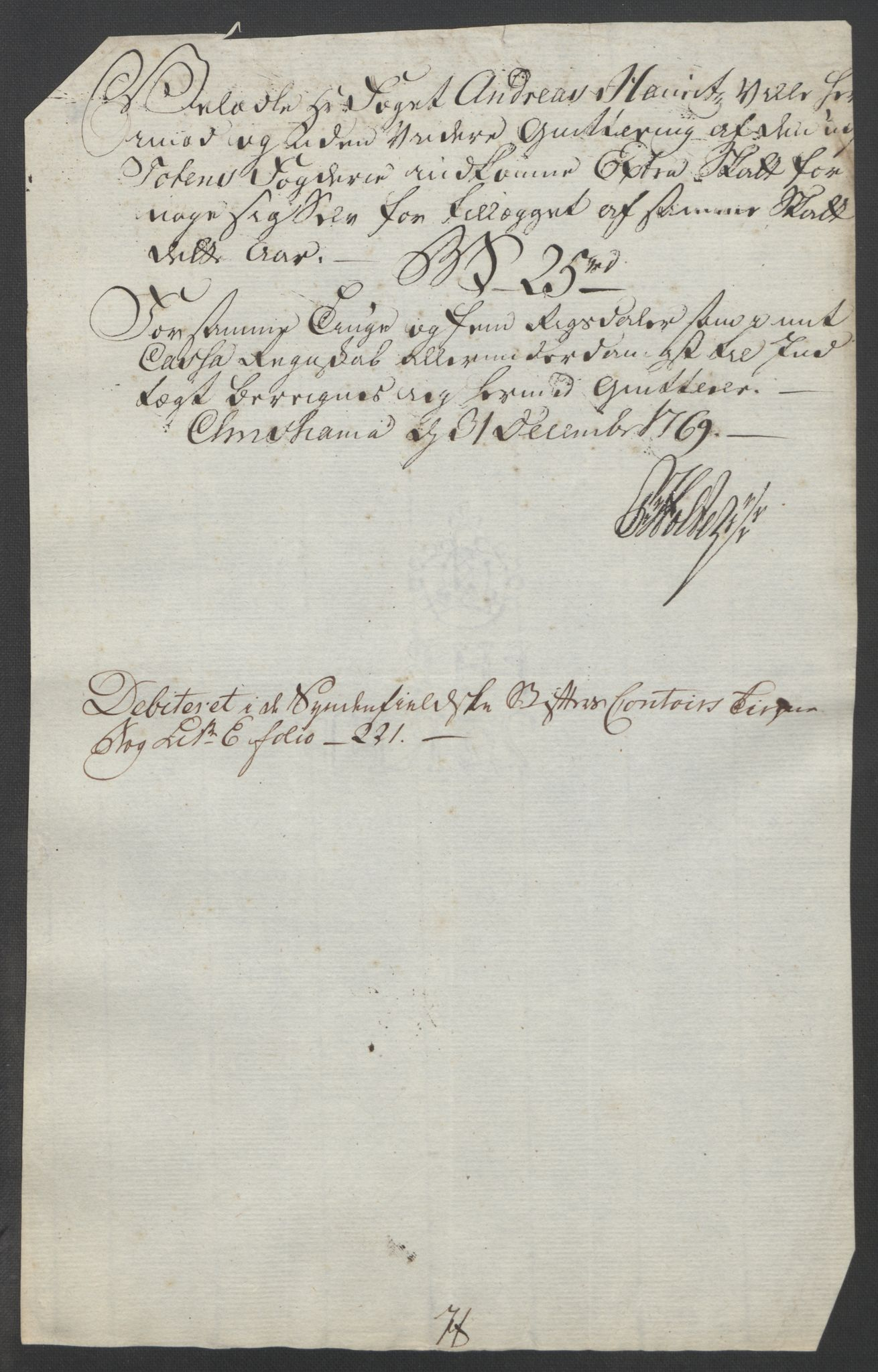 RA, Rentekammeret inntil 1814, Reviderte regnskaper, Fogderegnskap, R19/L1399: Fogderegnskap Toten, Hadeland og Vardal, 1762-1783, s. 169