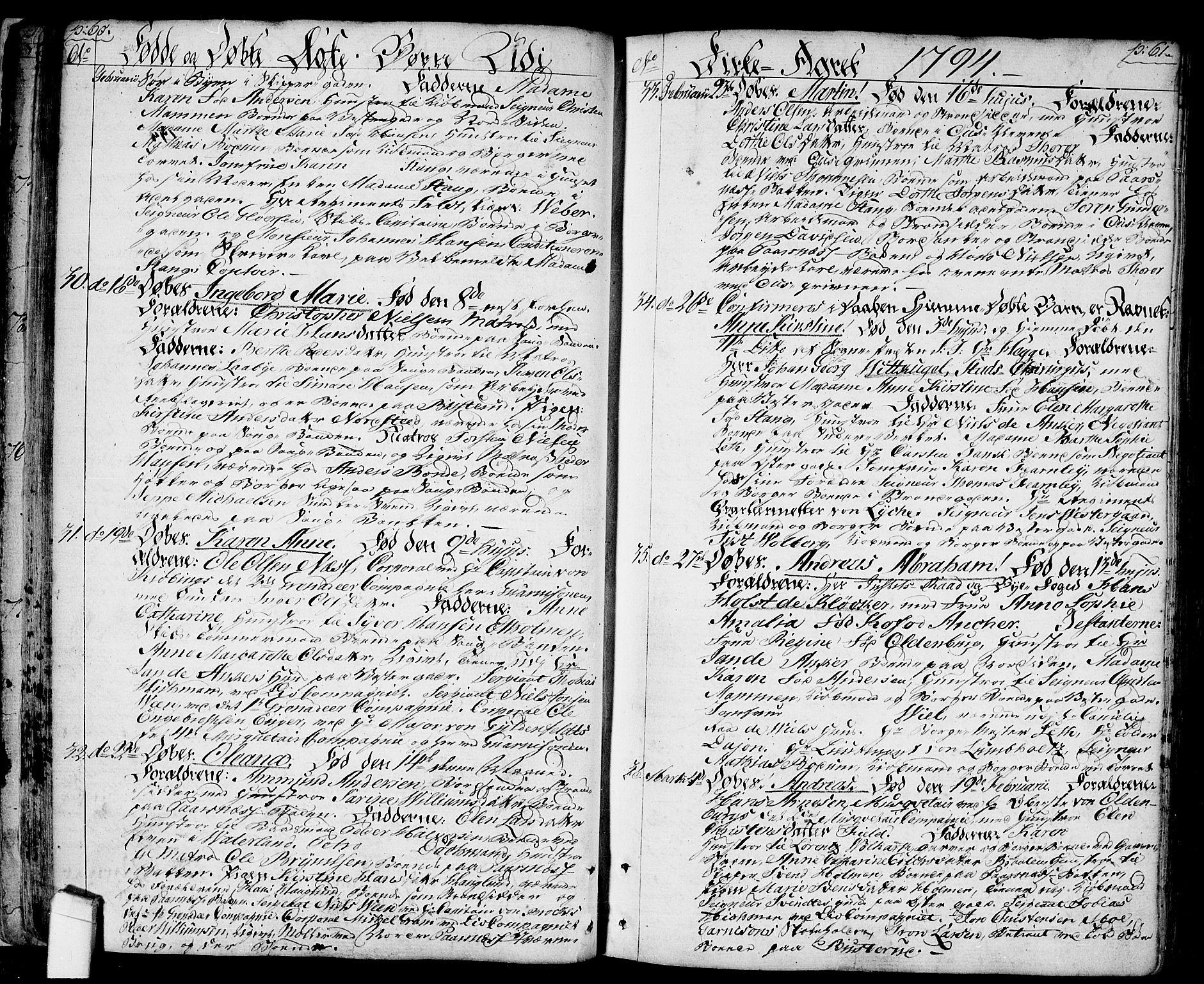 SAO, Halden prestekontor Kirkebøker, F/Fa/L0002: Ministerialbok nr. I 2, 1792-1812, s. 60-61