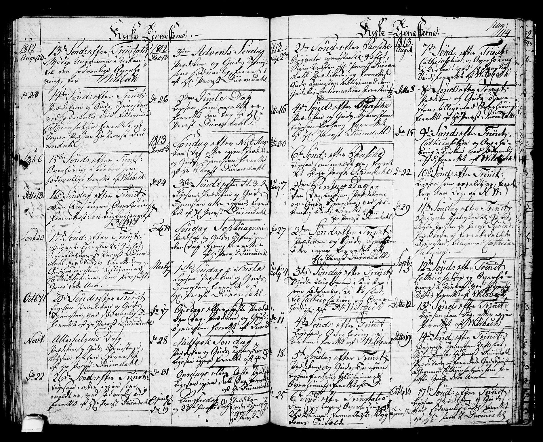 SAKO, Langesund kirkebøker, G/Ga/L0002: Klokkerbok nr. 2, 1801-1815, s. 114