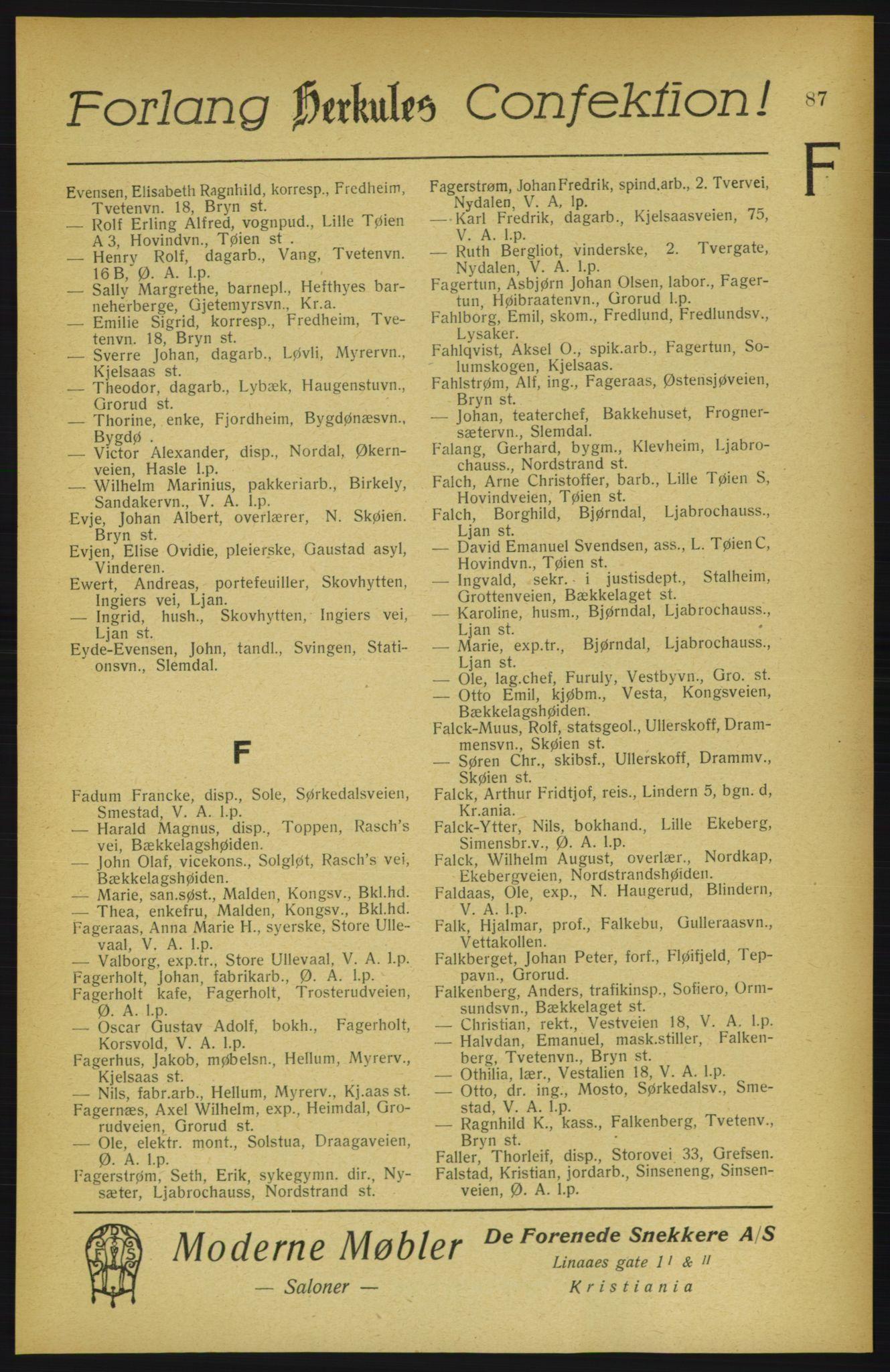 PUBL, Aker adressebok/adressekalender, 1922, s. 87