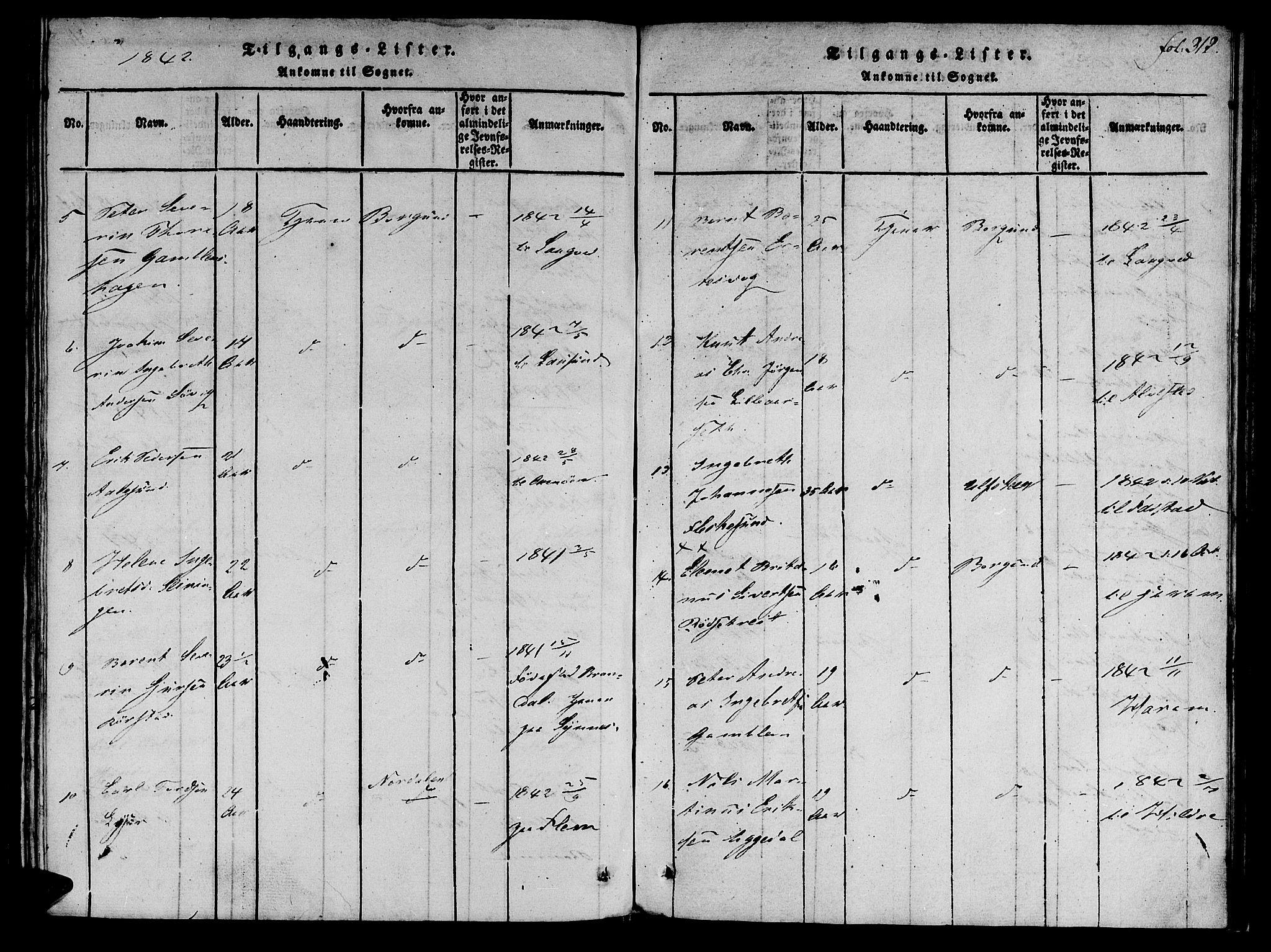 SAT, Ministerialprotokoller, klokkerbøker og fødselsregistre - Møre og Romsdal, 536/L0495: Ministerialbok nr. 536A04, 1818-1847, s. 312