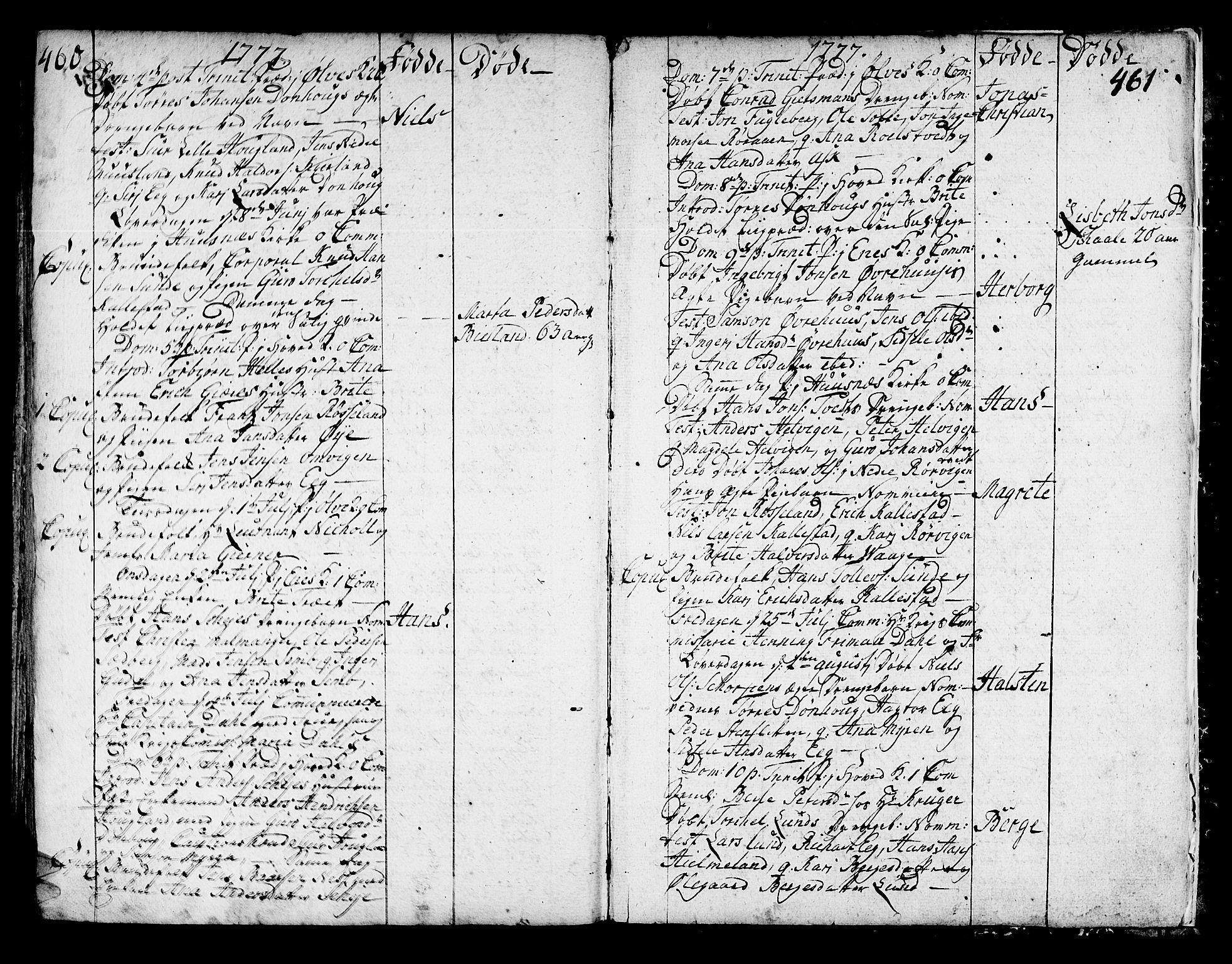 SAB, Kvinnherad Sokneprestembete, H/Haa: Ministerialbok nr. A 3, 1754-1777, s. 460-461