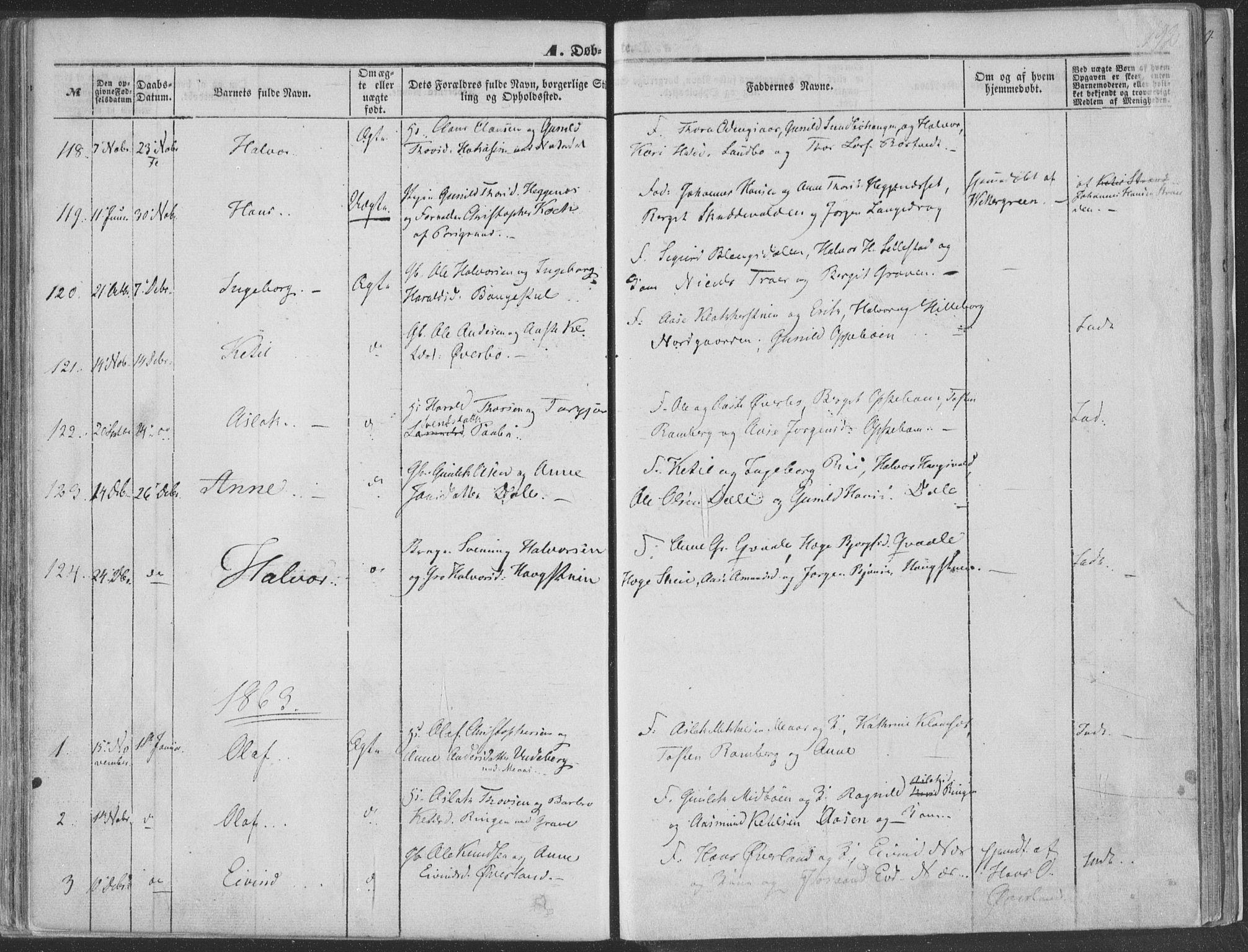 SAKO, Seljord kirkebøker, F/Fa/L012a: Ministerialbok nr. I 12A, 1850-1865, s. 192