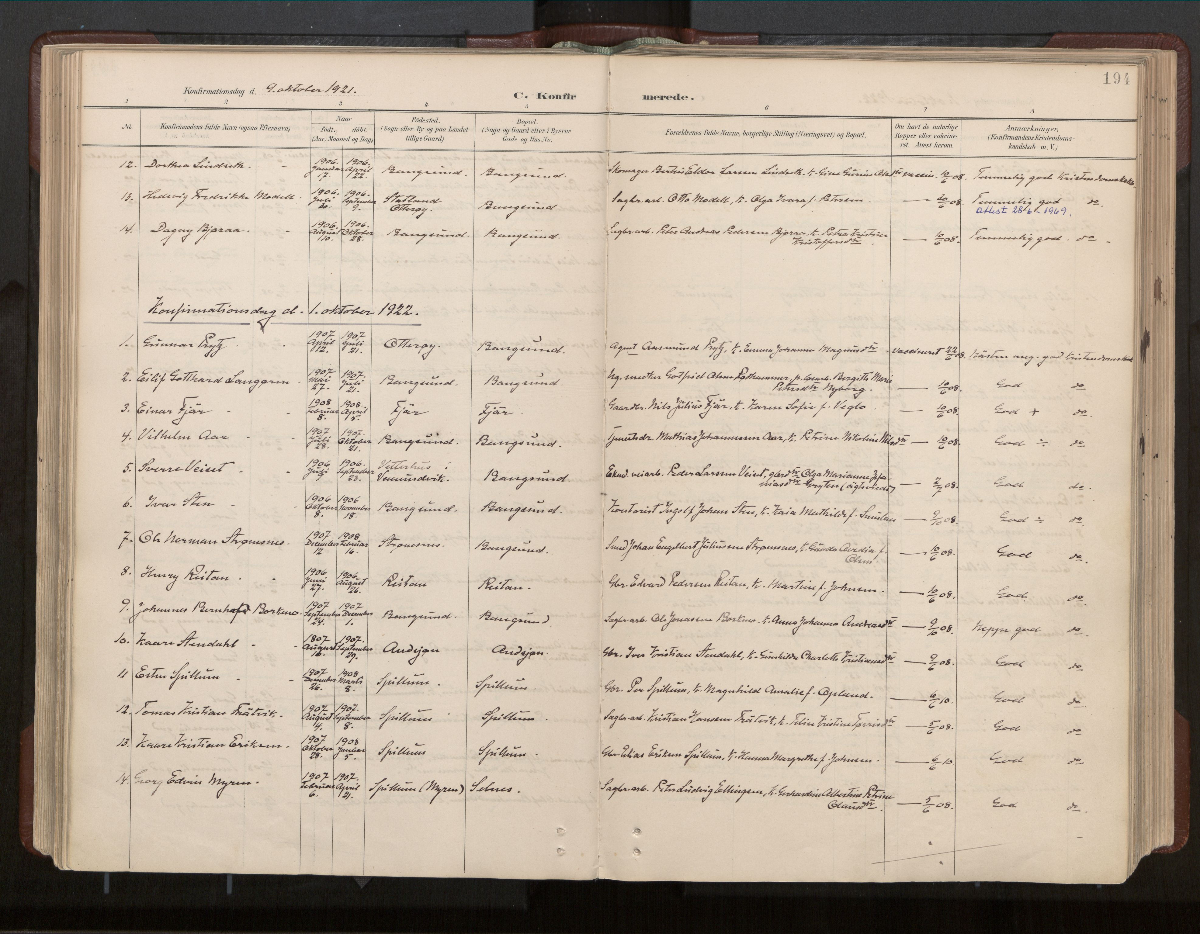 SAT, Ministerialprotokoller, klokkerbøker og fødselsregistre - Nord-Trøndelag, 770/L0589: Ministerialbok nr. 770A03, 1887-1929, s. 194