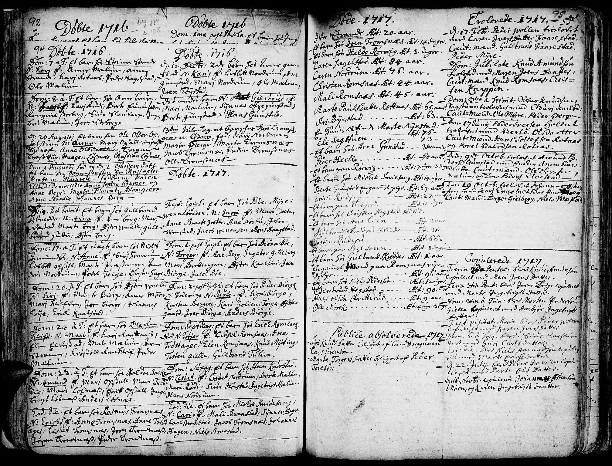 SAH, Ringebu prestekontor, Ministerialbok nr. 1, 1696-1733, s. 94-95