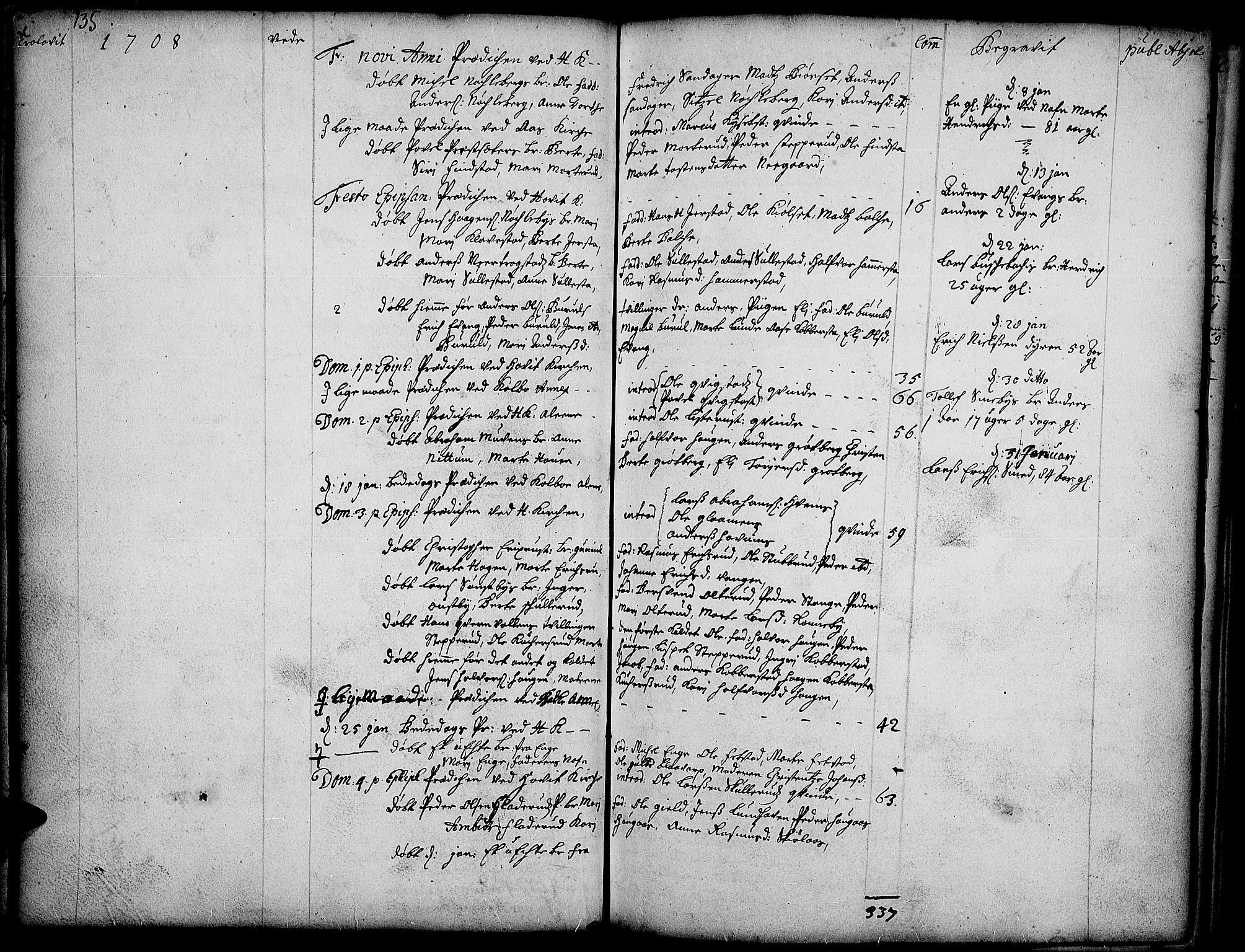 SAH, Toten prestekontor, Ministerialbok nr. 1, 1695-1713, s. 135