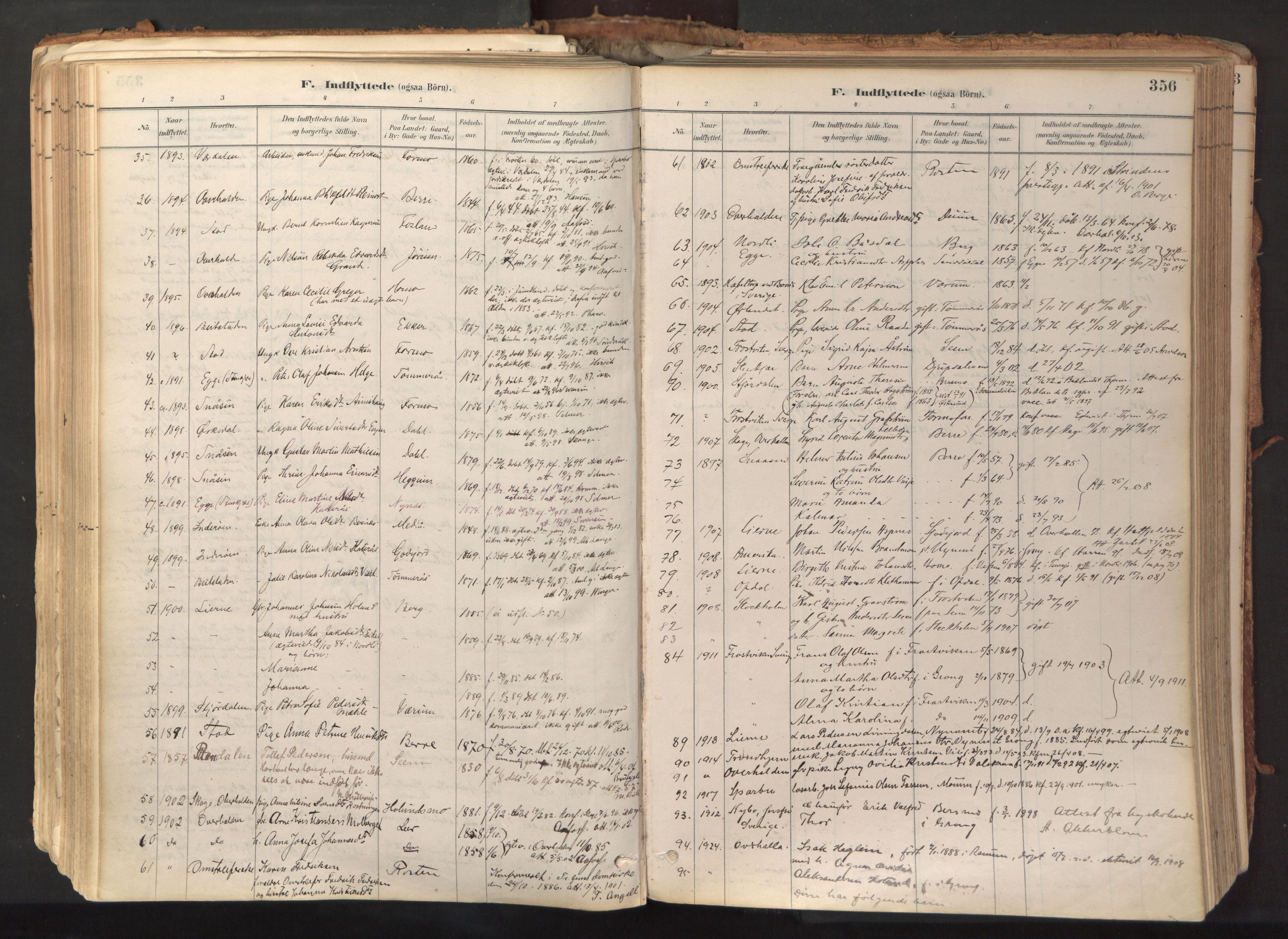 SAT, Ministerialprotokoller, klokkerbøker og fødselsregistre - Nord-Trøndelag, 758/L0519: Ministerialbok nr. 758A04, 1880-1926, s. 356