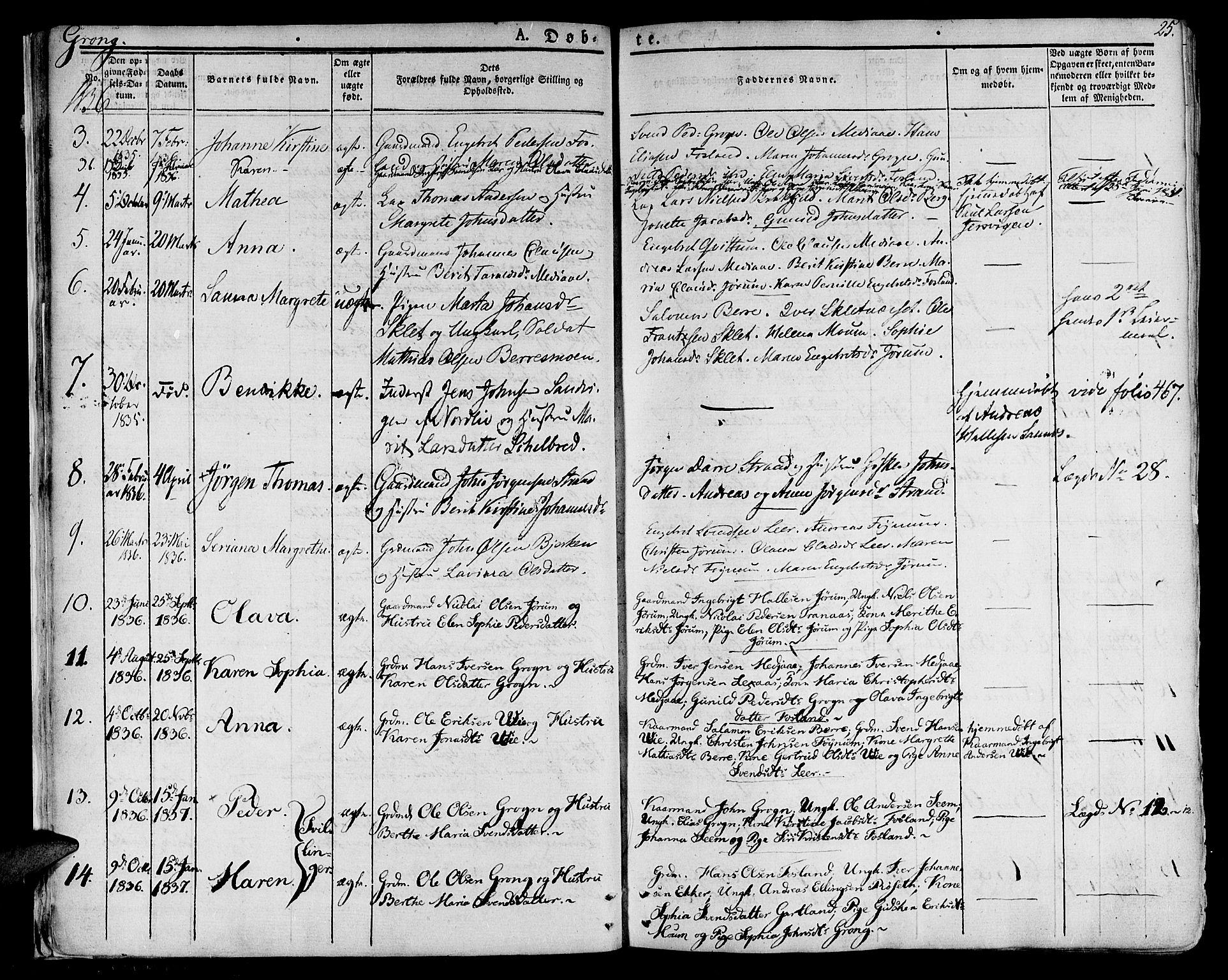 SAT, Ministerialprotokoller, klokkerbøker og fødselsregistre - Nord-Trøndelag, 758/L0510: Ministerialbok nr. 758A01 /1, 1821-1841, s. 25