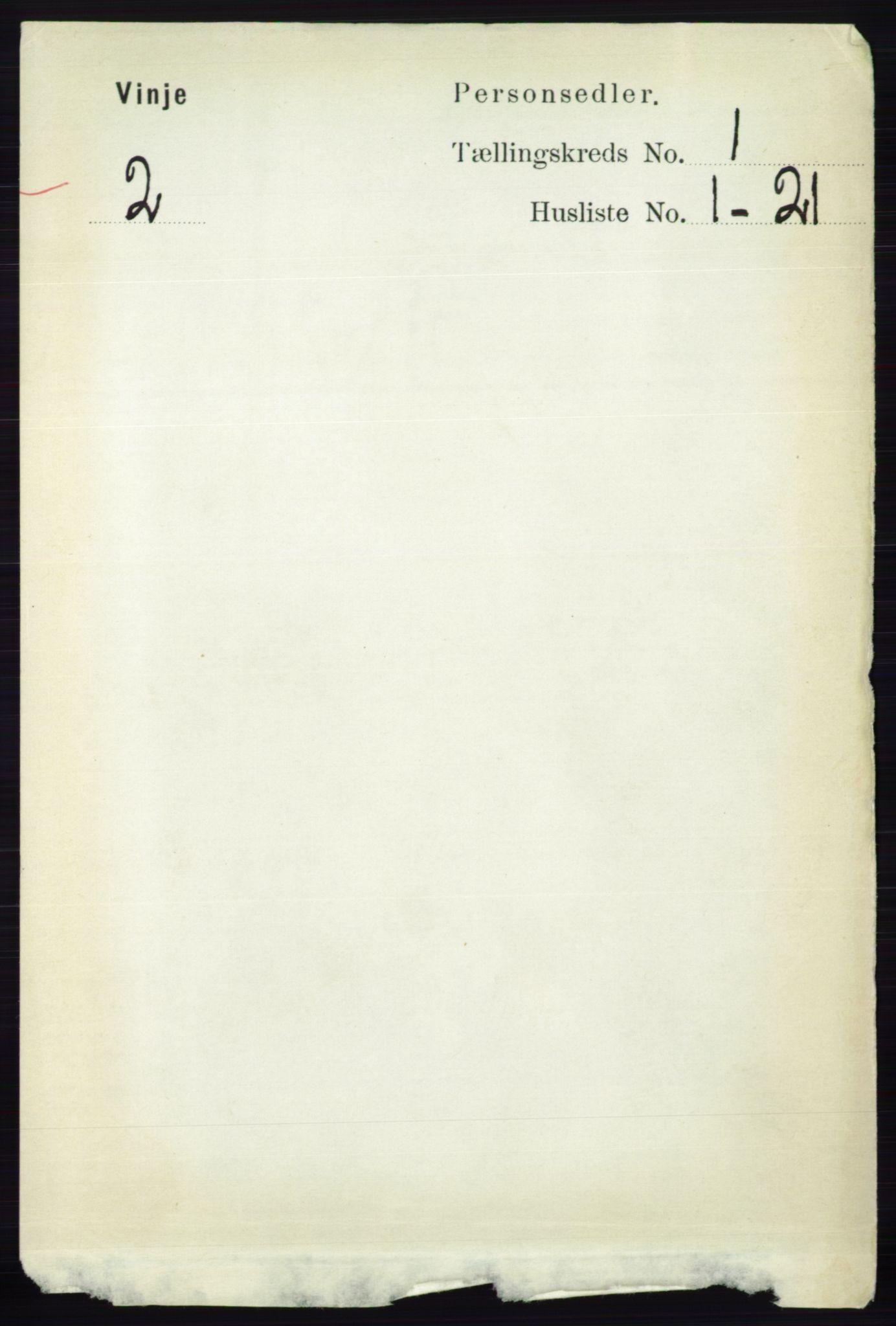 RA, Folketelling 1891 for 0834 Vinje herred, 1891, s. 60