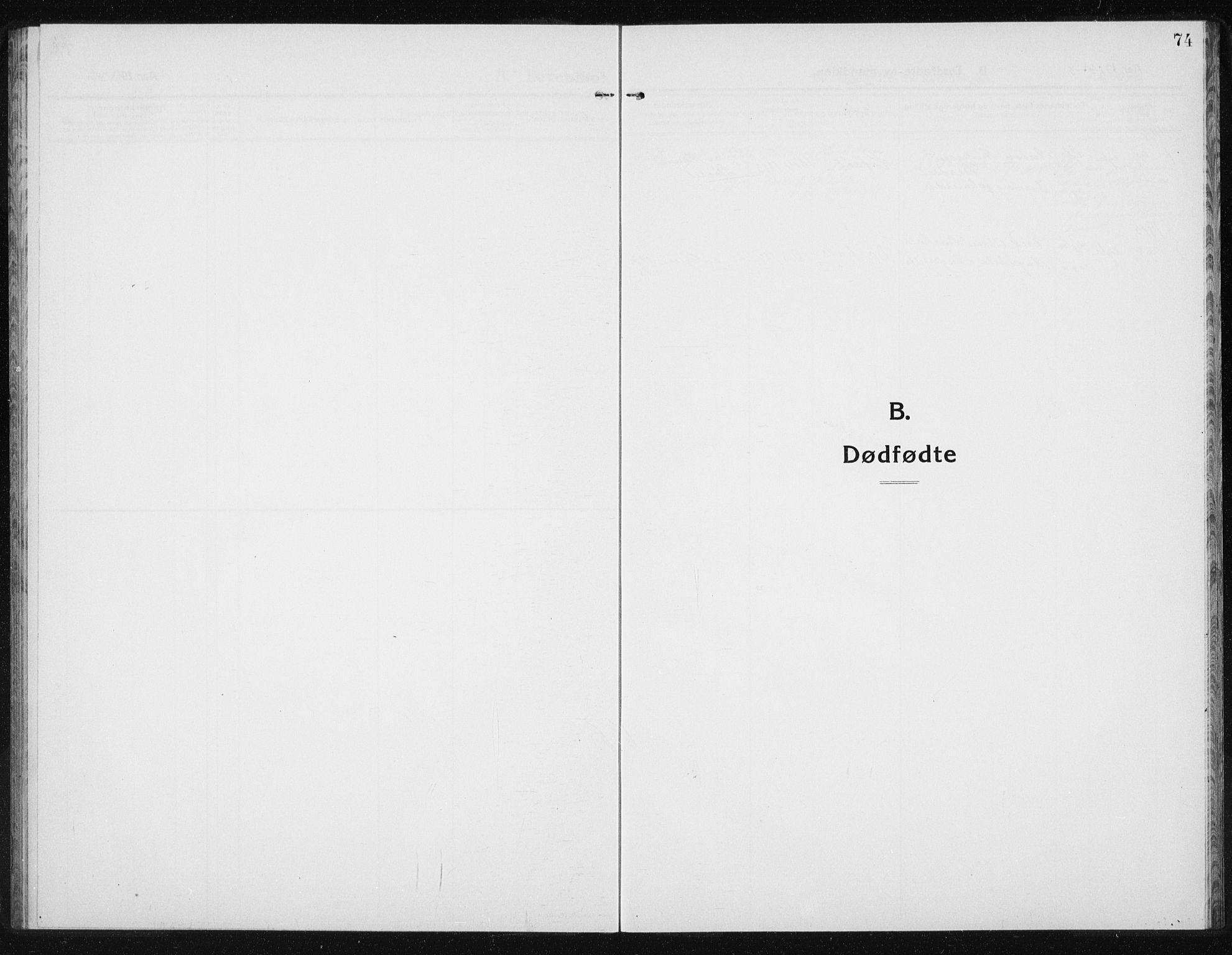 SAT, Ministerialprotokoller, klokkerbøker og fødselsregistre - Sør-Trøndelag, 631/L0515: Klokkerbok nr. 631C03, 1913-1939, s. 74