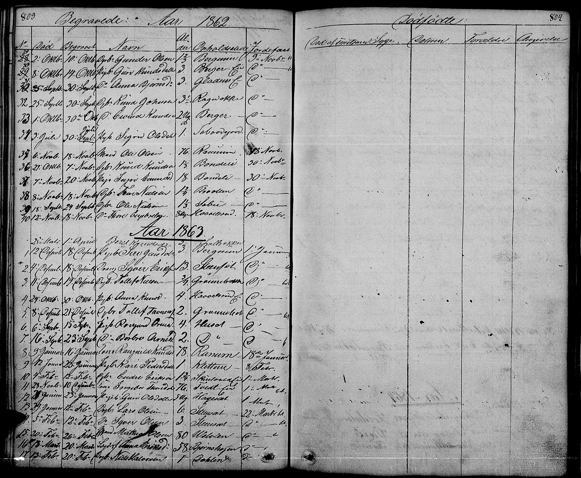 SAH, Nord-Aurdal prestekontor, Klokkerbok nr. 1, 1834-1887, s. 803-804