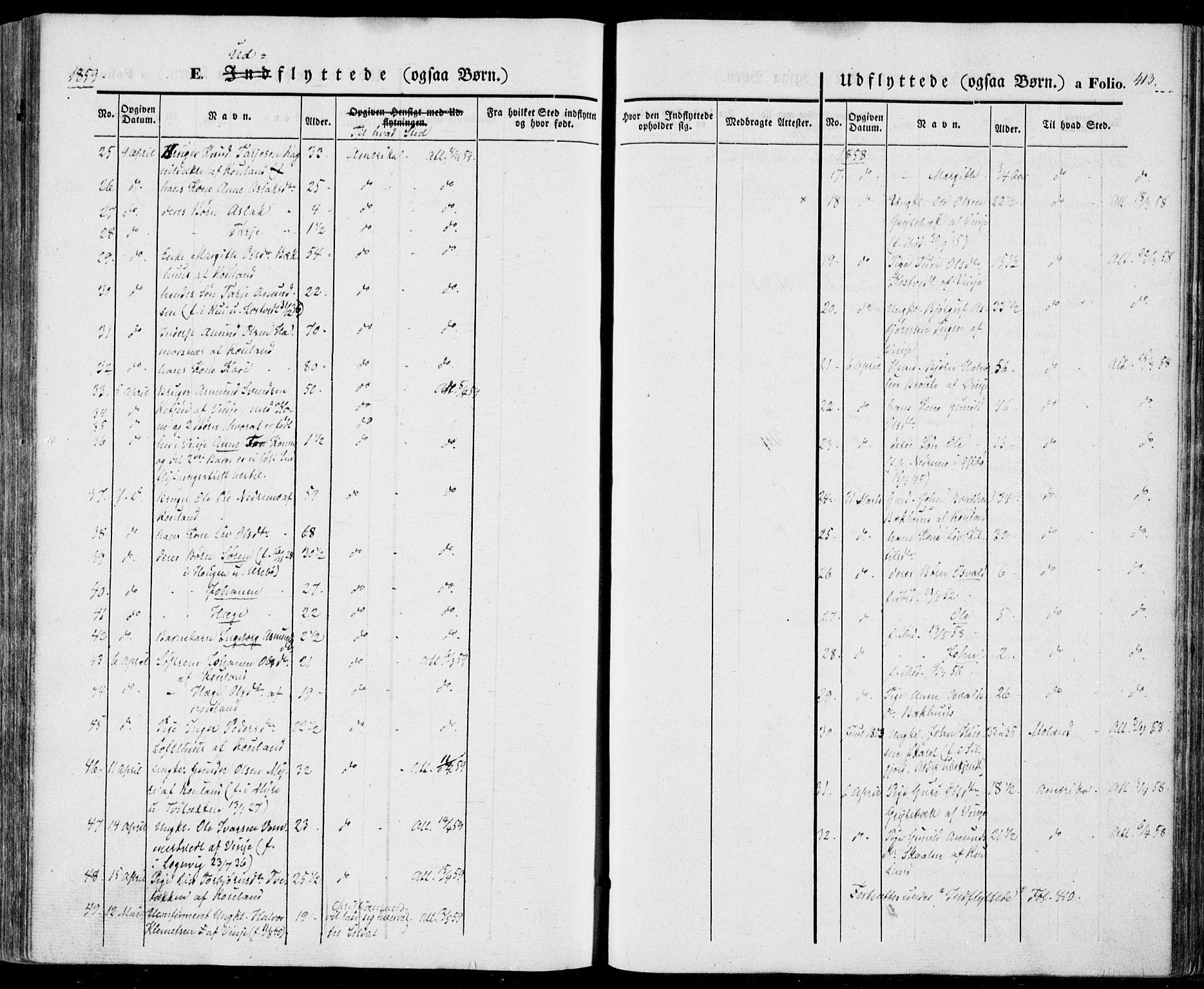 SAKO, Vinje kirkebøker, F/Fa/L0004: Ministerialbok nr. I 4, 1843-1869, s. 413