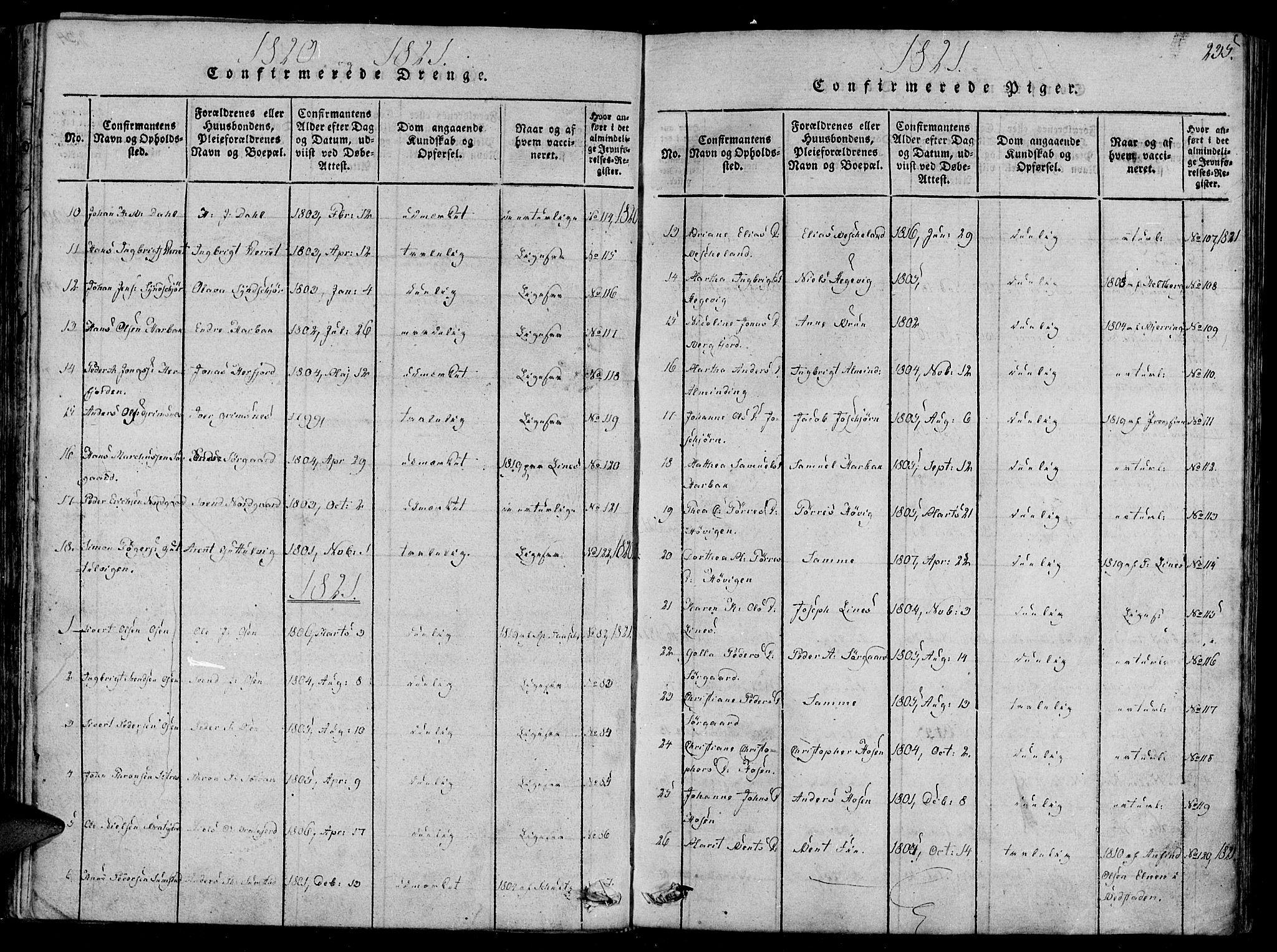 SAT, Ministerialprotokoller, klokkerbøker og fødselsregistre - Sør-Trøndelag, 657/L0702: Ministerialbok nr. 657A03, 1818-1831, s. 235