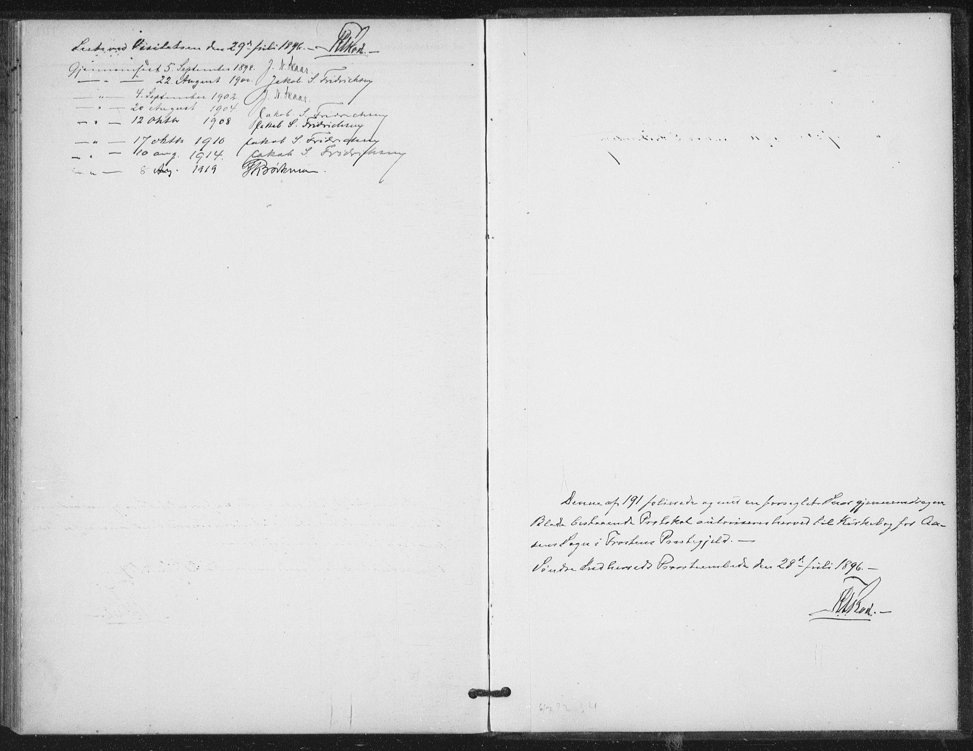 SAT, Ministerialprotokoller, klokkerbøker og fødselsregistre - Nord-Trøndelag, 714/L0131: Ministerialbok nr. 714A02, 1896-1918