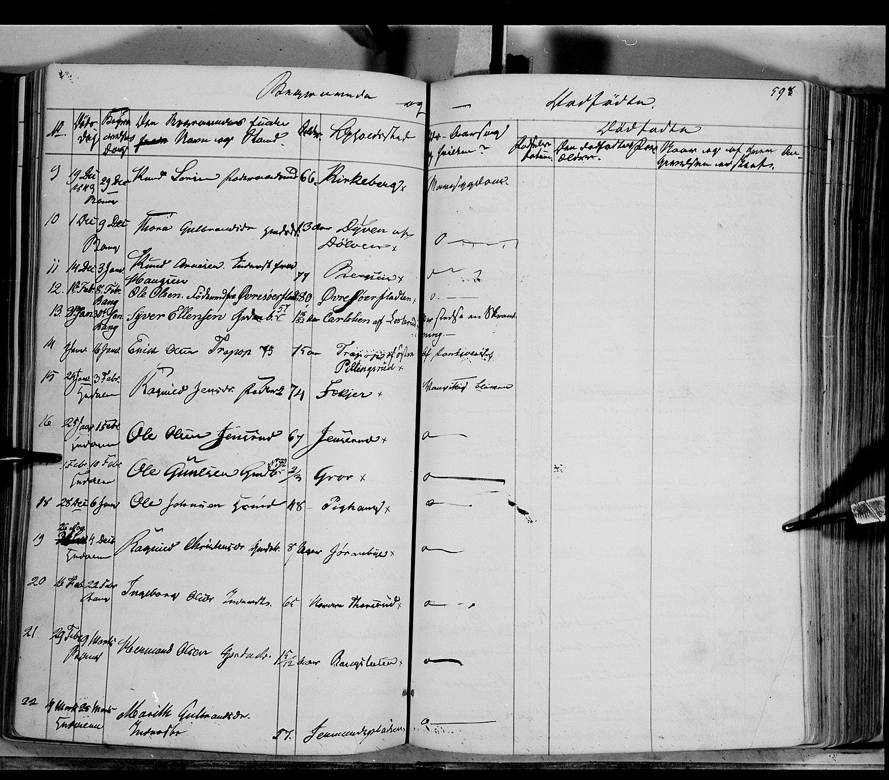 SAH, Sør-Aurdal prestekontor, Ministerialbok nr. 4, 1841-1849, s. 597-598
