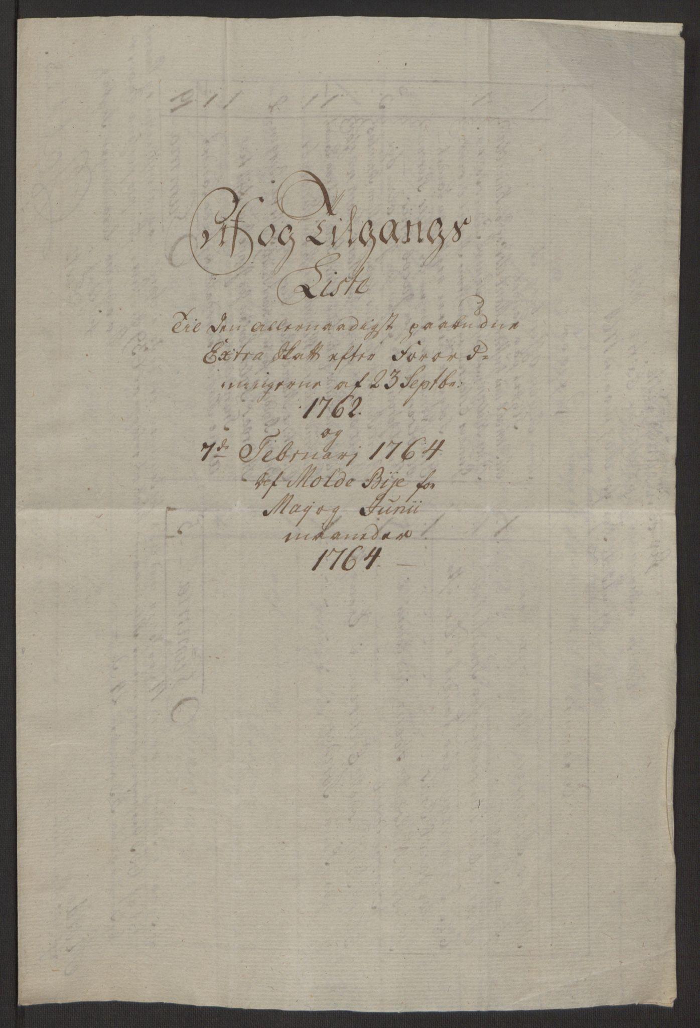 RA, Rentekammeret inntil 1814, Reviderte regnskaper, Byregnskaper, R/Rq/L0487: [Q1] Kontribusjonsregnskap, 1762-1772, s. 97