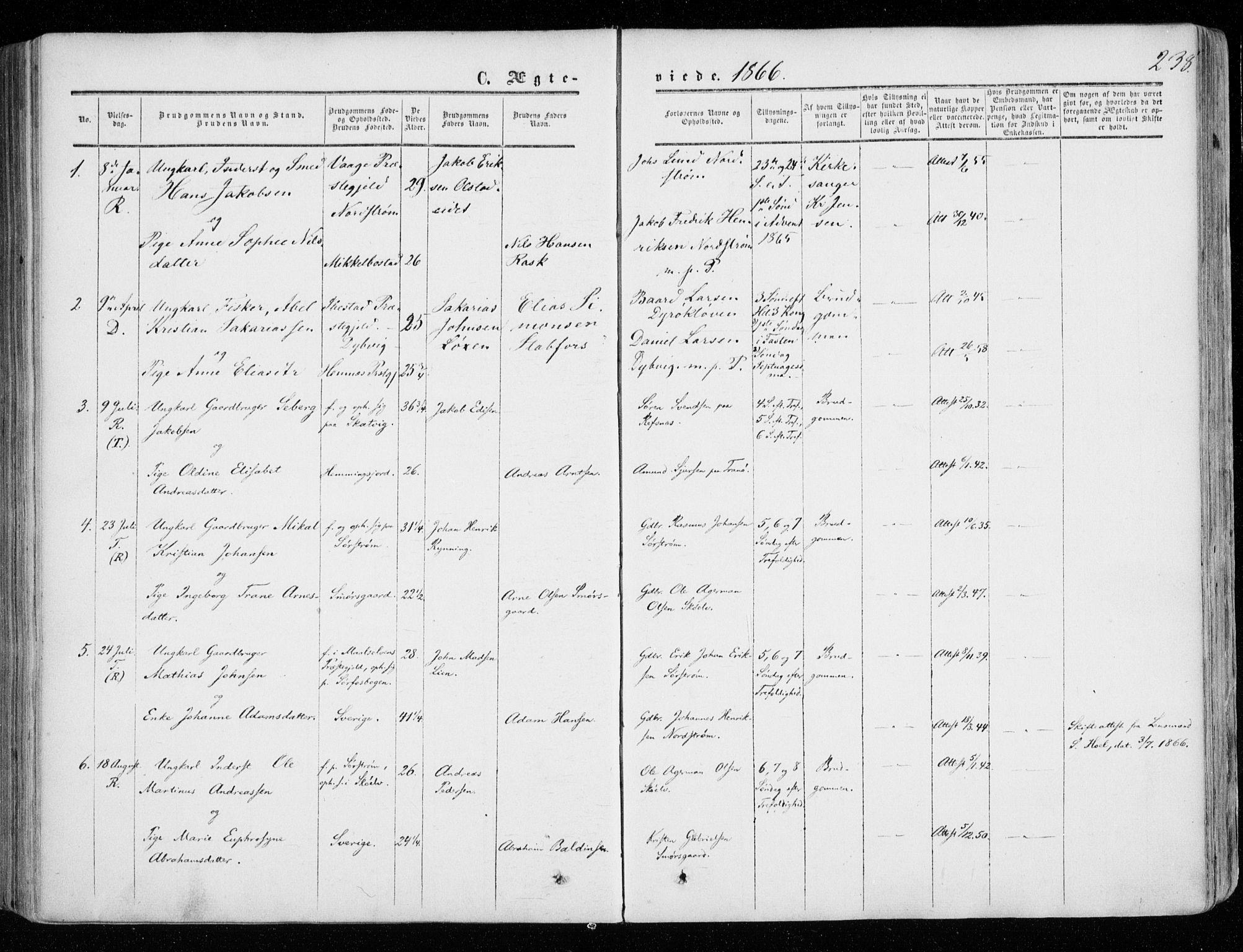 SATØ, Tranøy sokneprestkontor, I/Ia/Iaa/L0007kirke: Ministerialbok nr. 7, 1856-1866, s. 238