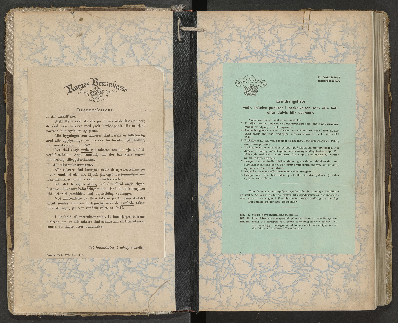SAT, Norges Brannkasse Hol, BT/L0028: Branntakstprotokoll med tekst, 1945-1950