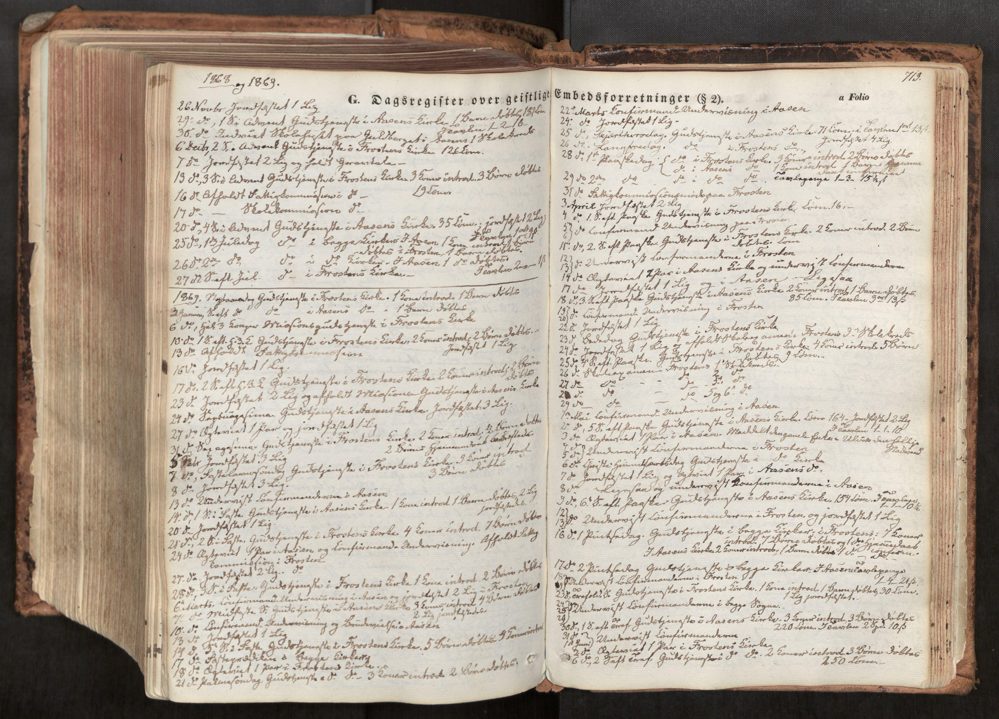 SAT, Ministerialprotokoller, klokkerbøker og fødselsregistre - Nord-Trøndelag, 713/L0116: Ministerialbok nr. 713A07, 1850-1877, s. 713