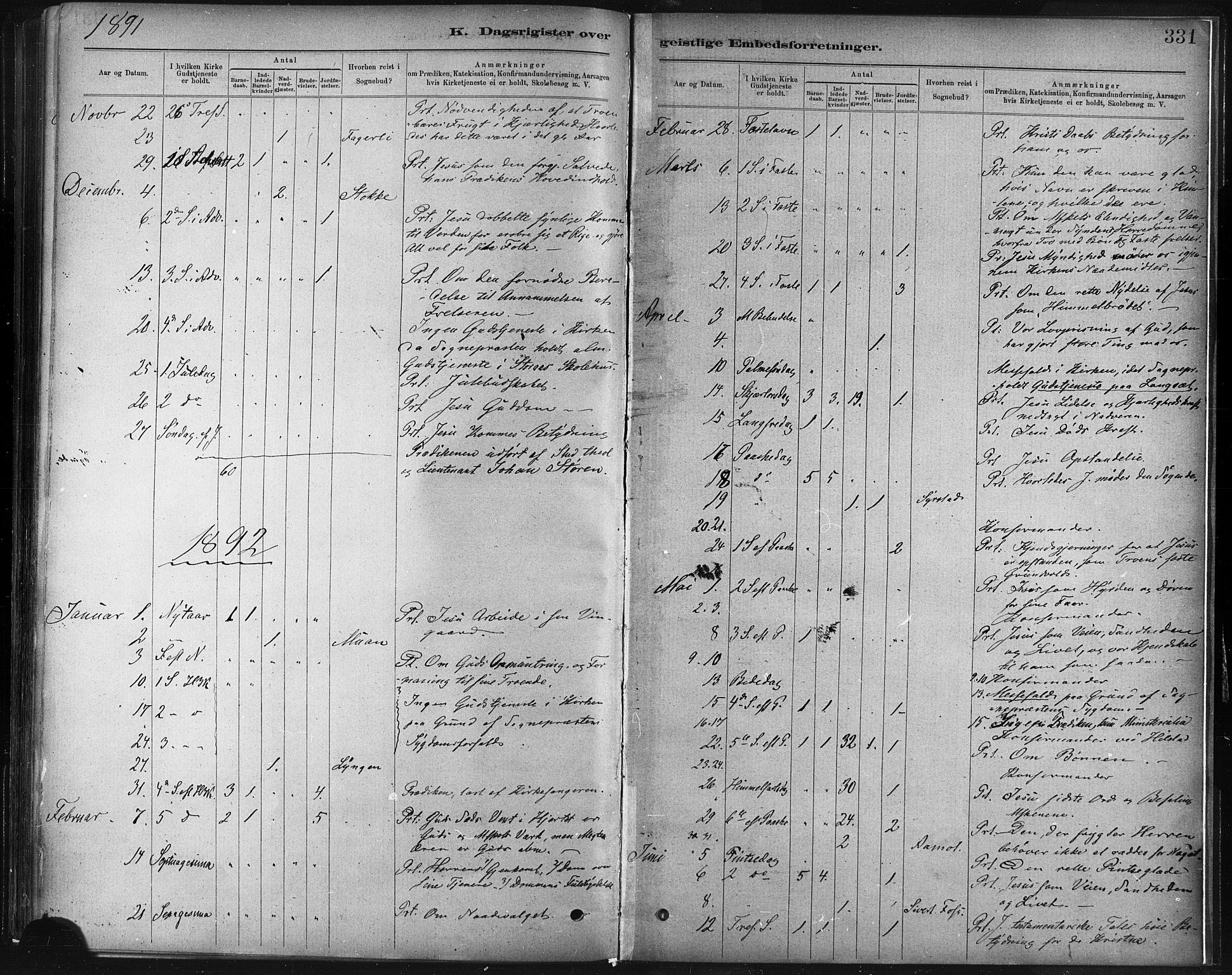 SAT, Ministerialprotokoller, klokkerbøker og fødselsregistre - Sør-Trøndelag, 672/L0857: Ministerialbok nr. 672A09, 1882-1893, s. 331