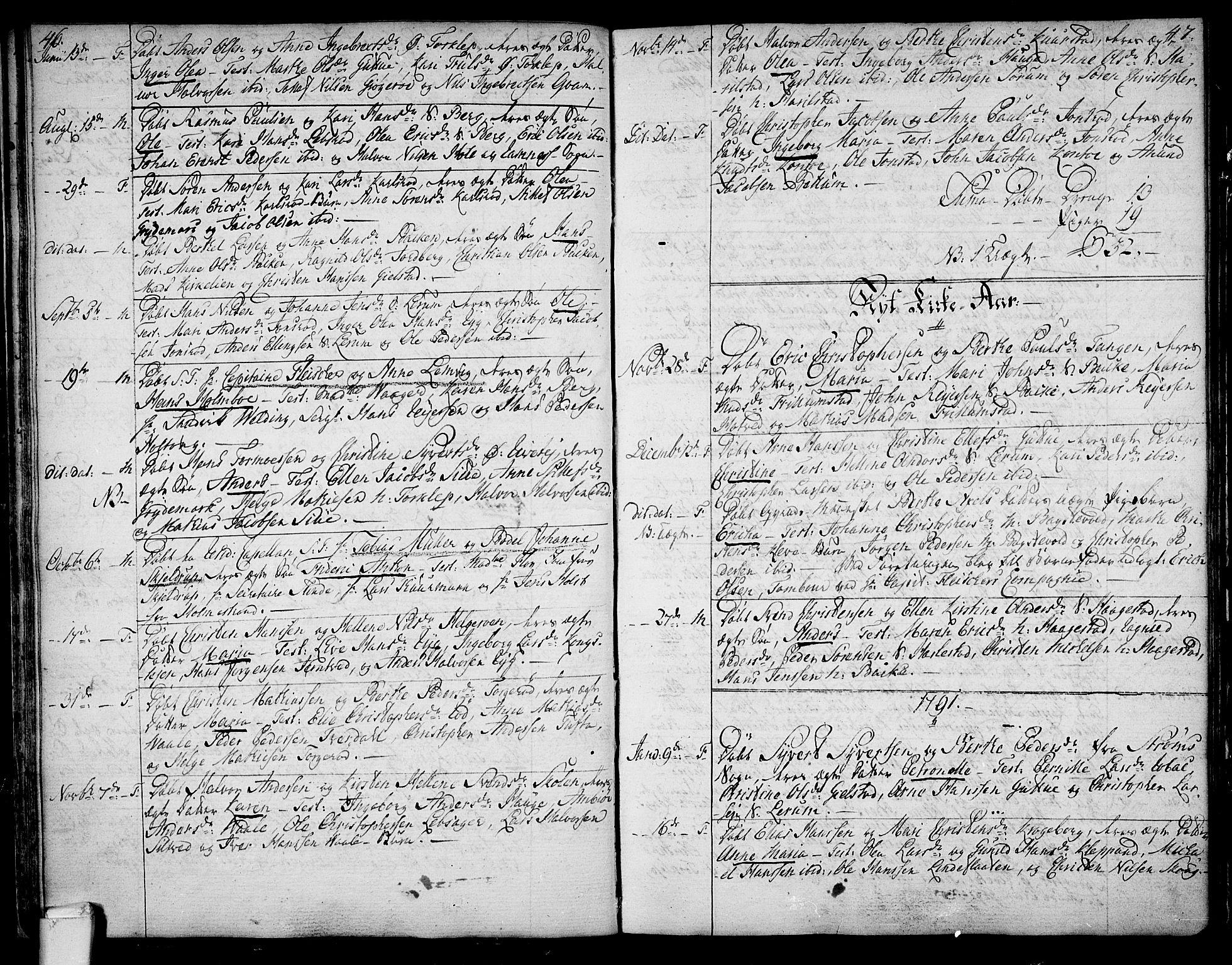 SAKO, Våle kirkebøker, F/Fa/L0005: Ministerialbok nr. I 5, 1773-1808, s. 46-47