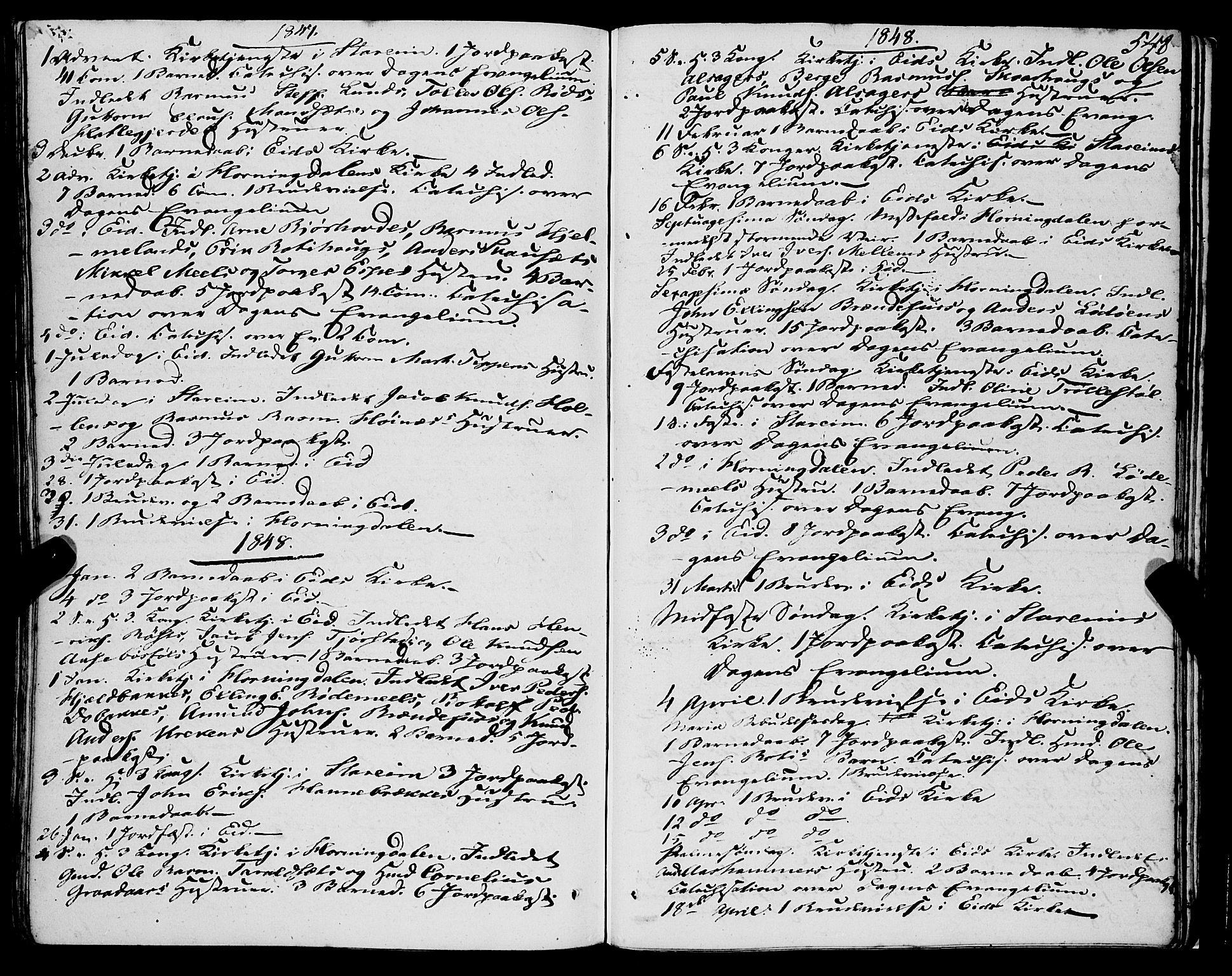 SAB, Eid Sokneprestembete, H/Haa: Ministerialbok nr. A 7, 1844-1858, s. 548