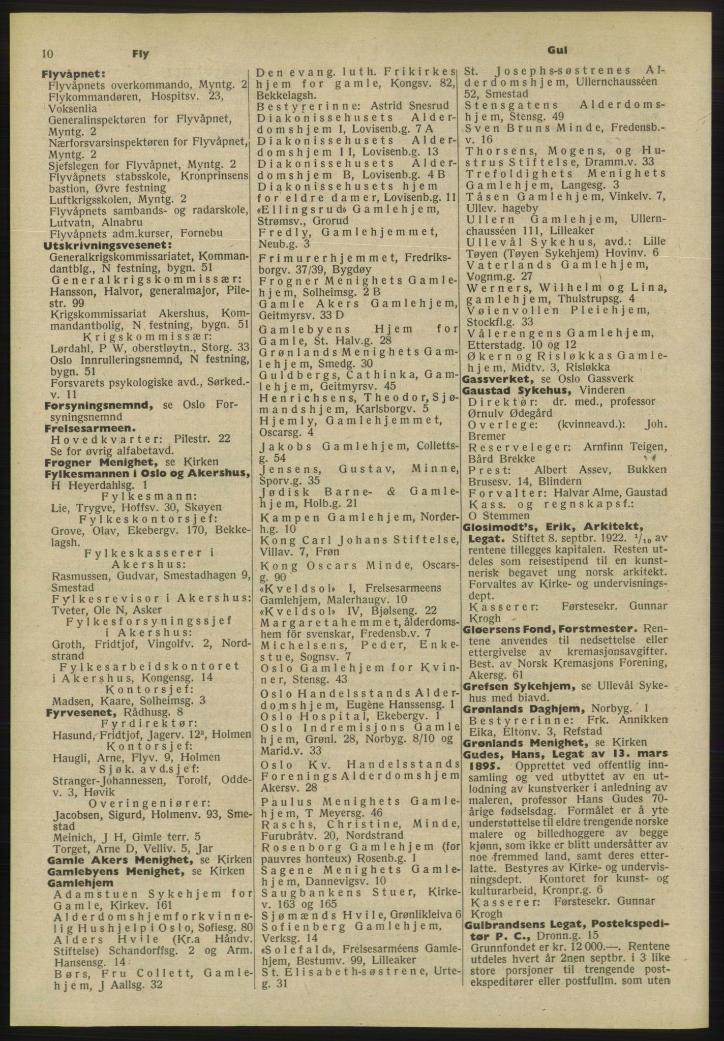 RA, Oslo adressebok (publikasjon)*, 1955, s. 10