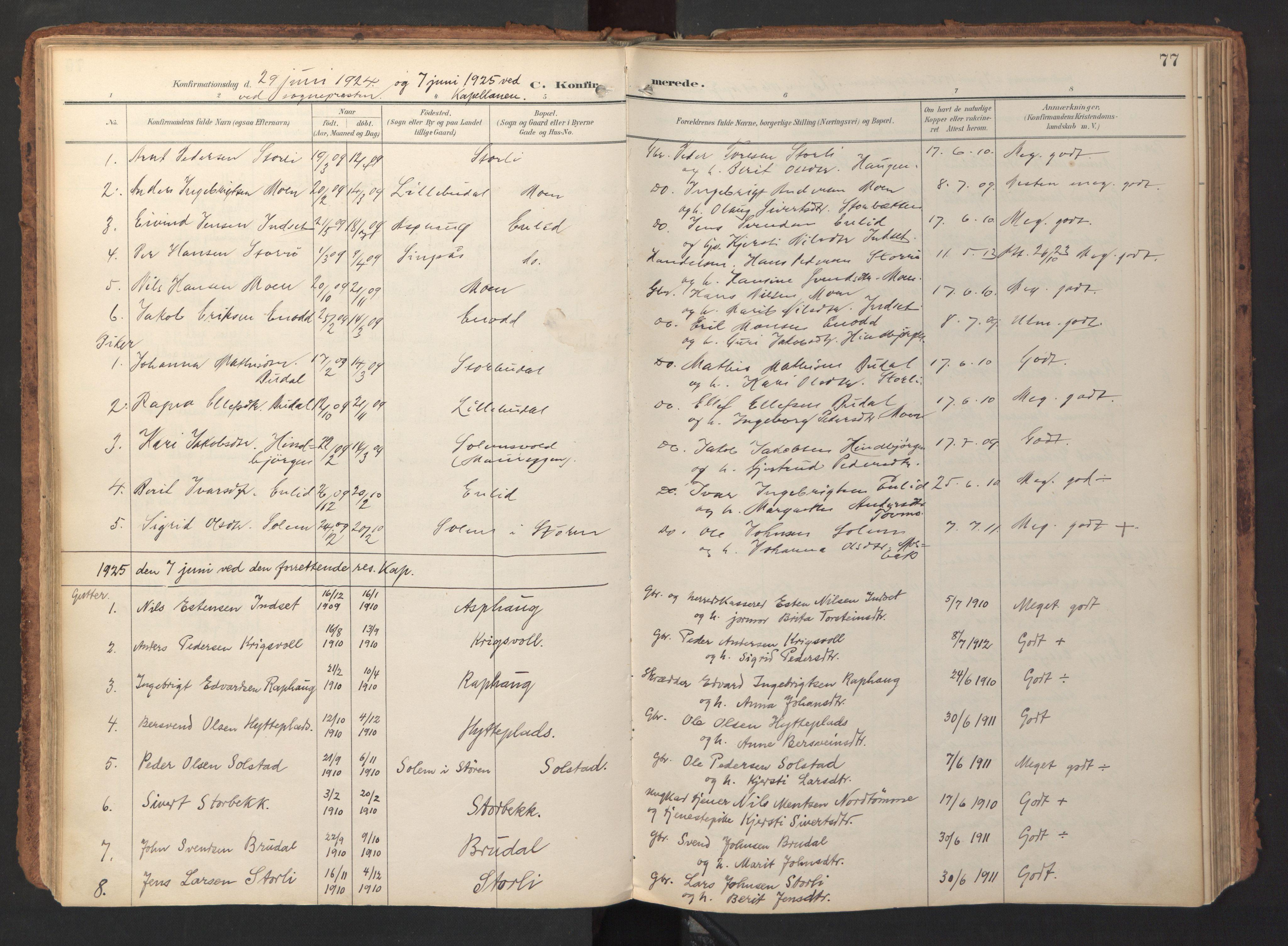 SAT, Ministerialprotokoller, klokkerbøker og fødselsregistre - Sør-Trøndelag, 690/L1050: Ministerialbok nr. 690A01, 1889-1929, s. 77