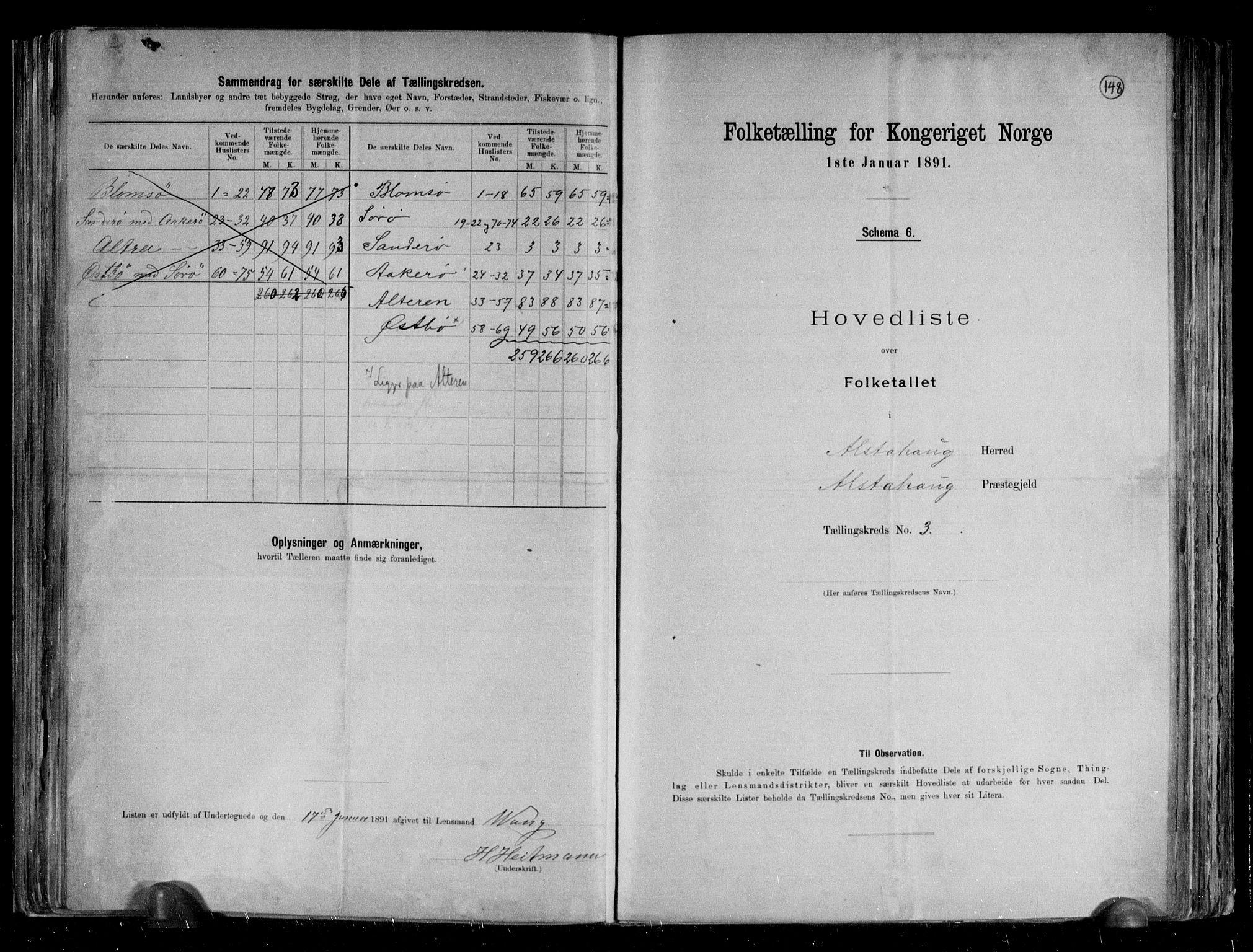 RA, Folketelling 1891 for 1820 Alstahaug herred, 1891, s. 10
