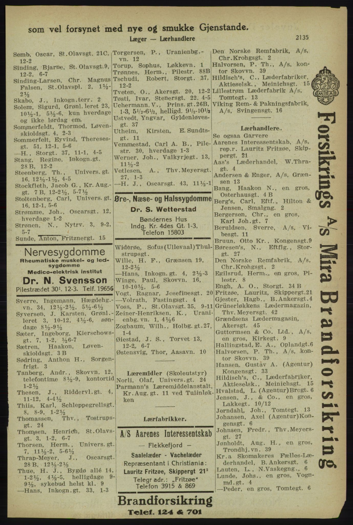 PUBL, Kristiania/Oslo adressebok, 1918, s. 2288