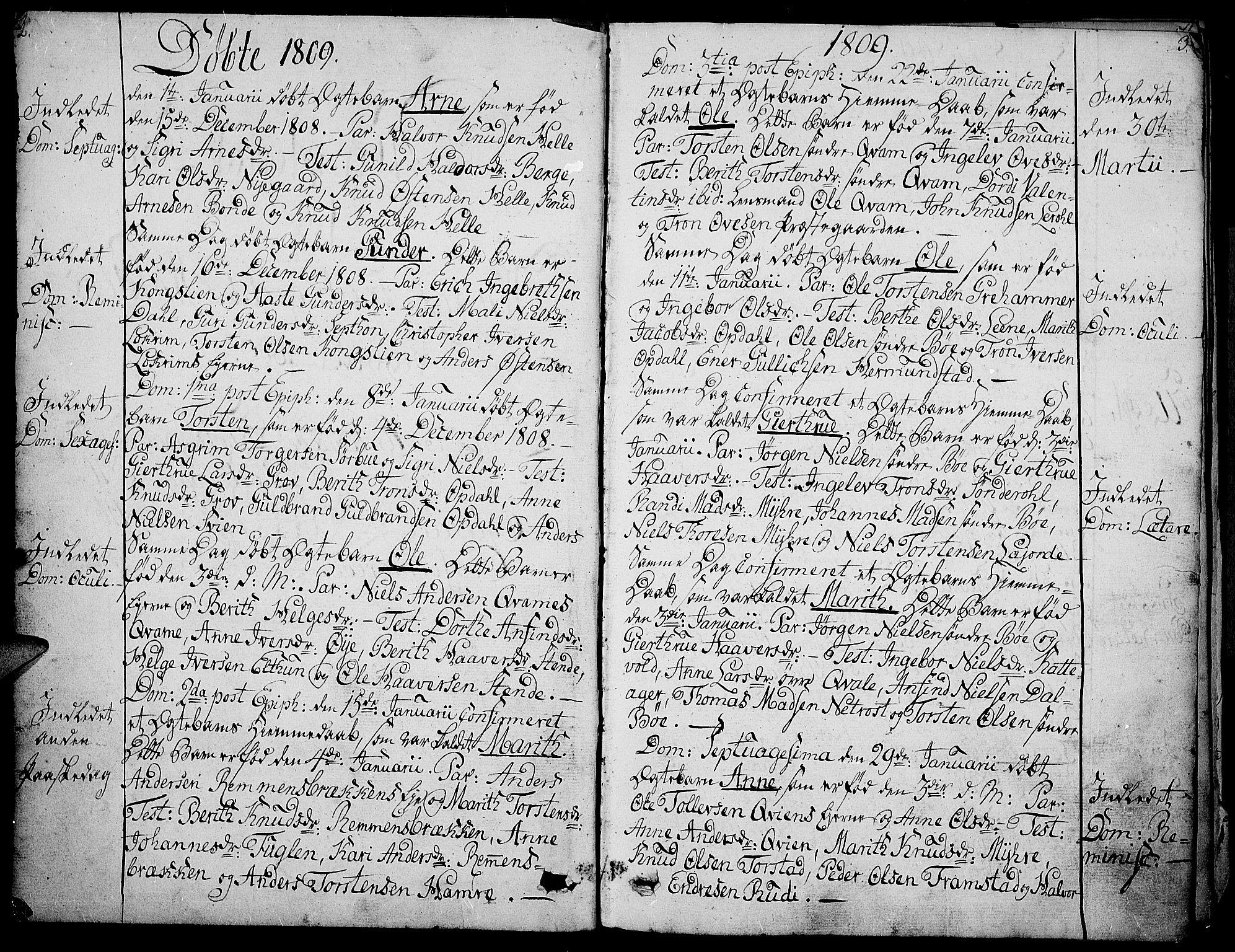 SAH, Vang prestekontor, Valdres, Ministerialbok nr. 3, 1809-1831, s. 2-3