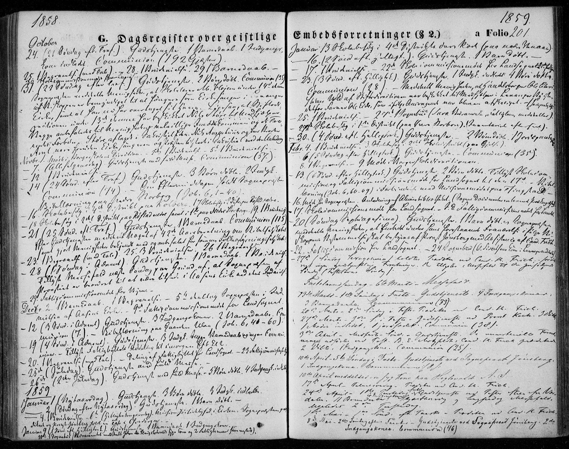 SAT, Ministerialprotokoller, klokkerbøker og fødselsregistre - Nord-Trøndelag, 720/L0184: Ministerialbok nr. 720A02 /1, 1855-1863, s. 201