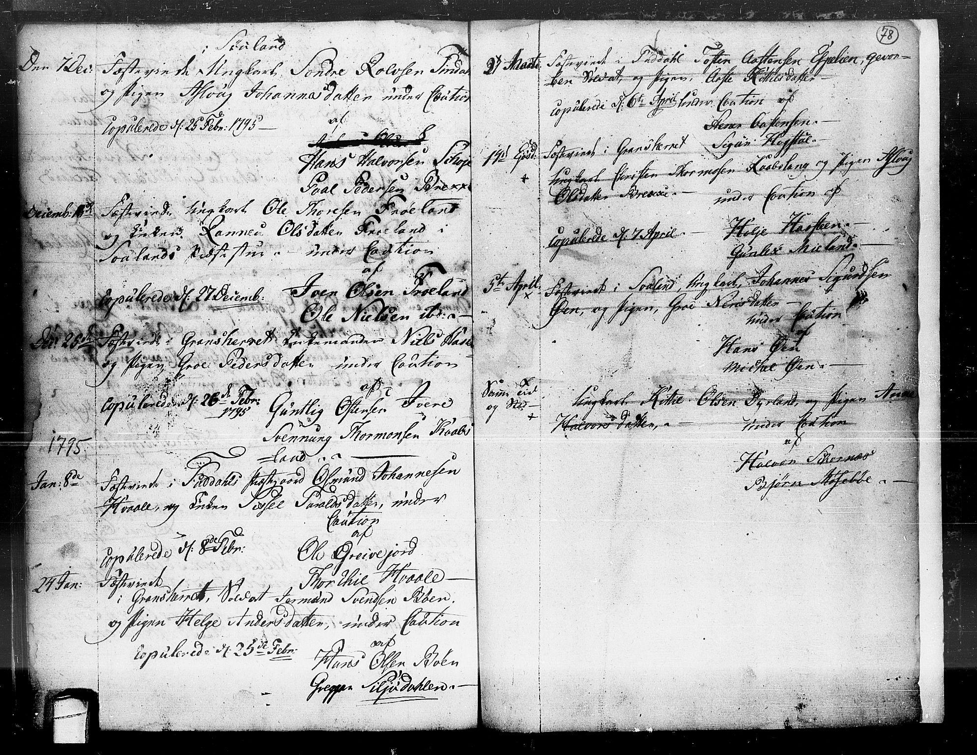 SAKO, Hjartdal kirkebøker, F/Fa/L0004: Ministerialbok nr. I 4, 1727-1795, s. 78