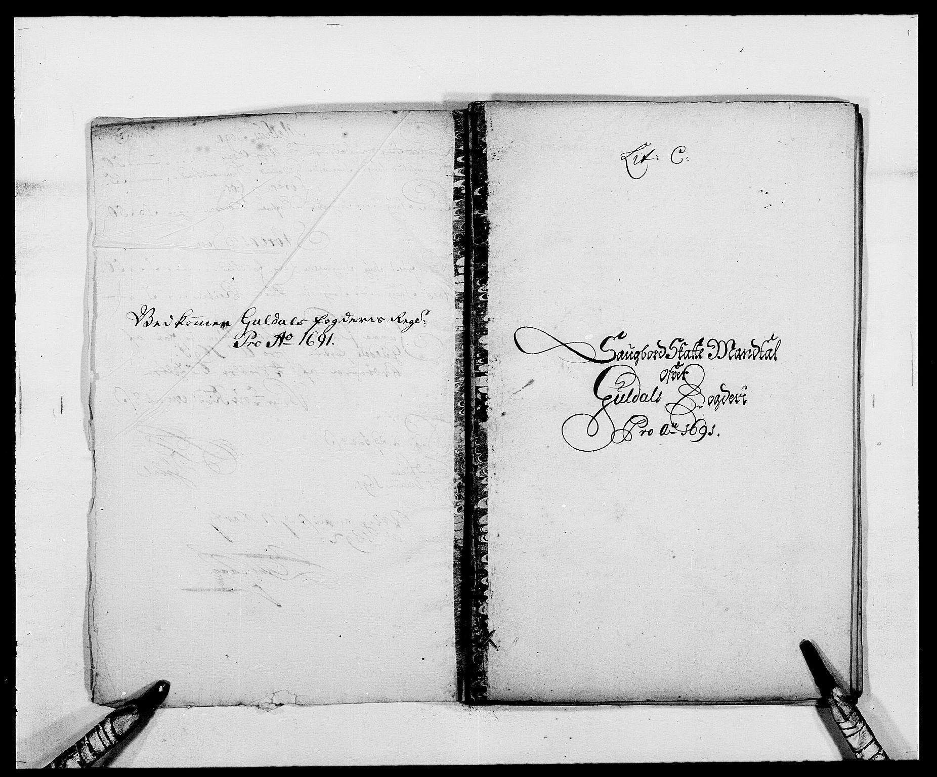 RA, Rentekammeret inntil 1814, Reviderte regnskaper, Fogderegnskap, R59/L3941: Fogderegnskap Gauldal, 1691, s. 63