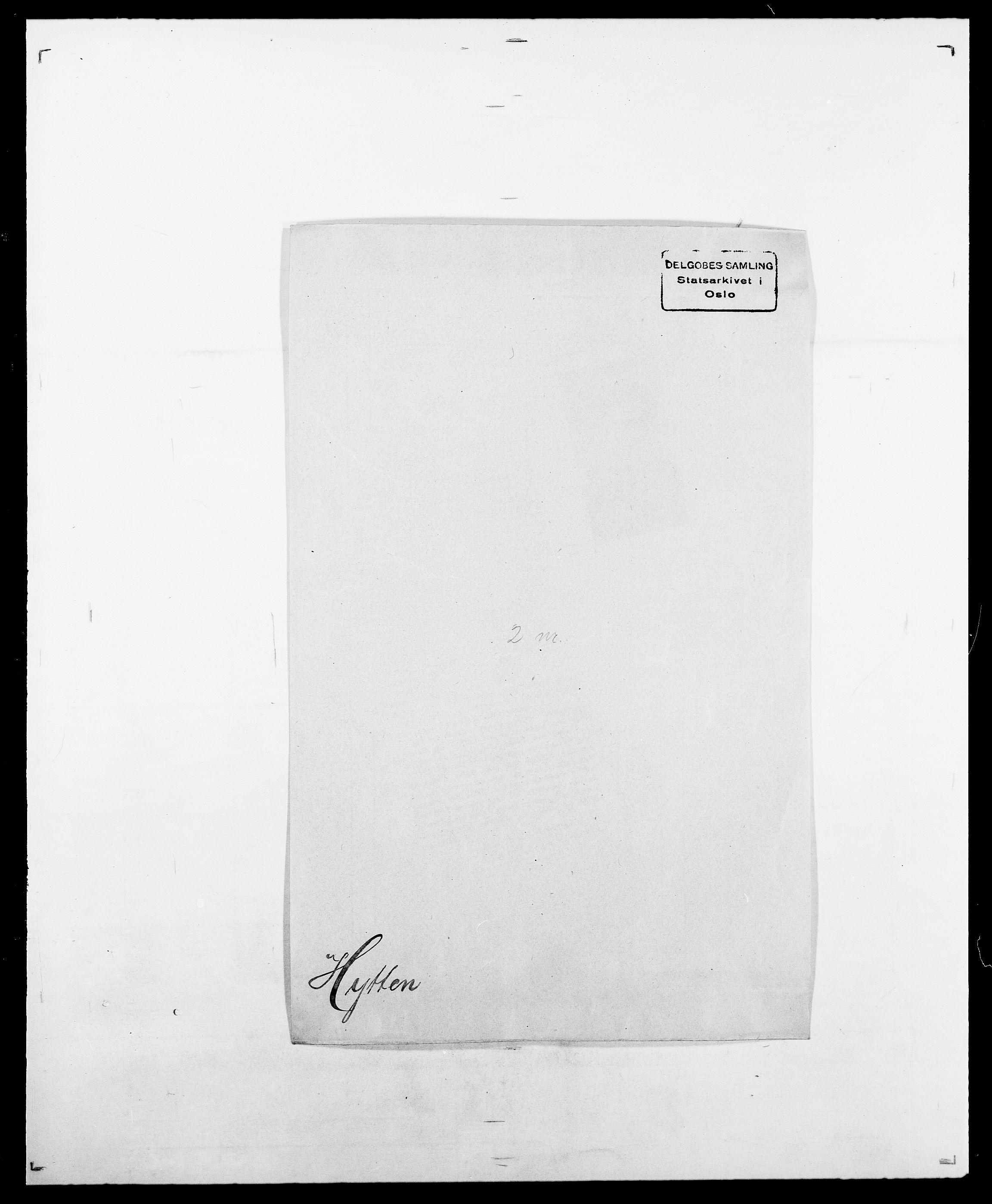 SAO, Delgobe, Charles Antoine - samling, D/Da/L0019: van der Hude - Joys, s. 300
