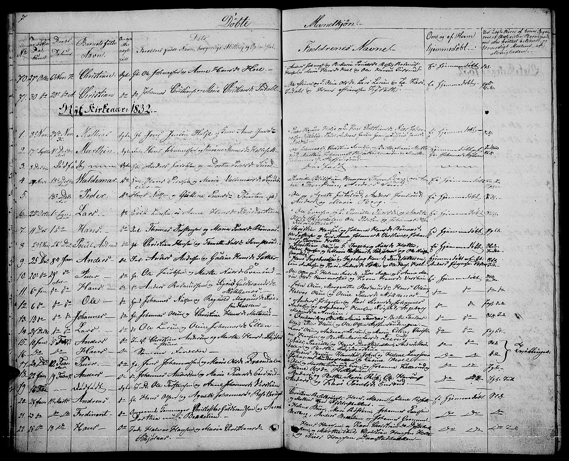 SAH, Vestre Toten prestekontor, H/Ha/Hab/L0001: Klokkerbok nr. 1, 1830-1836, s. 7