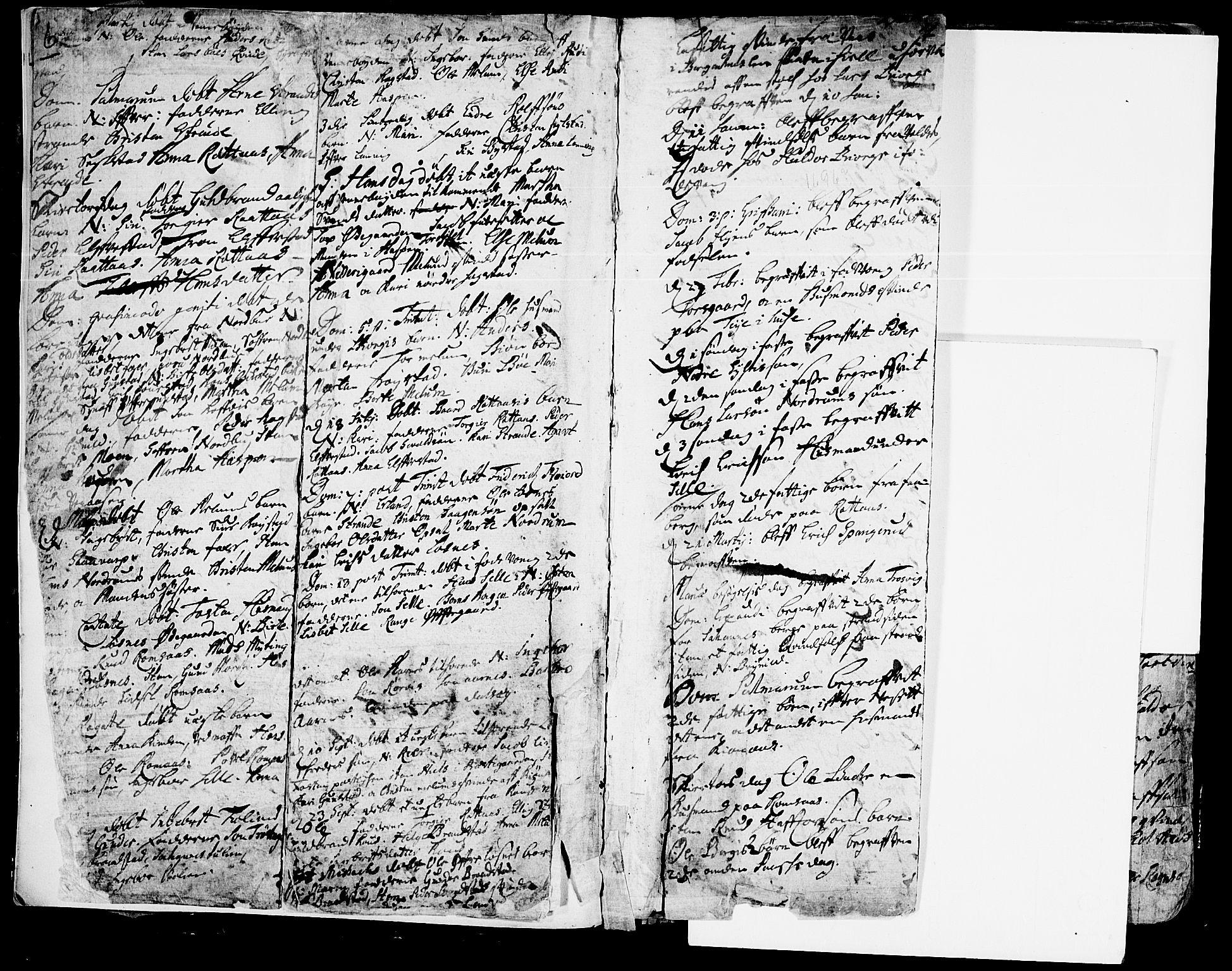 SAH, Ringebu prestekontor, Ministerialbok nr. 1, 1696-1733, s. 6-7