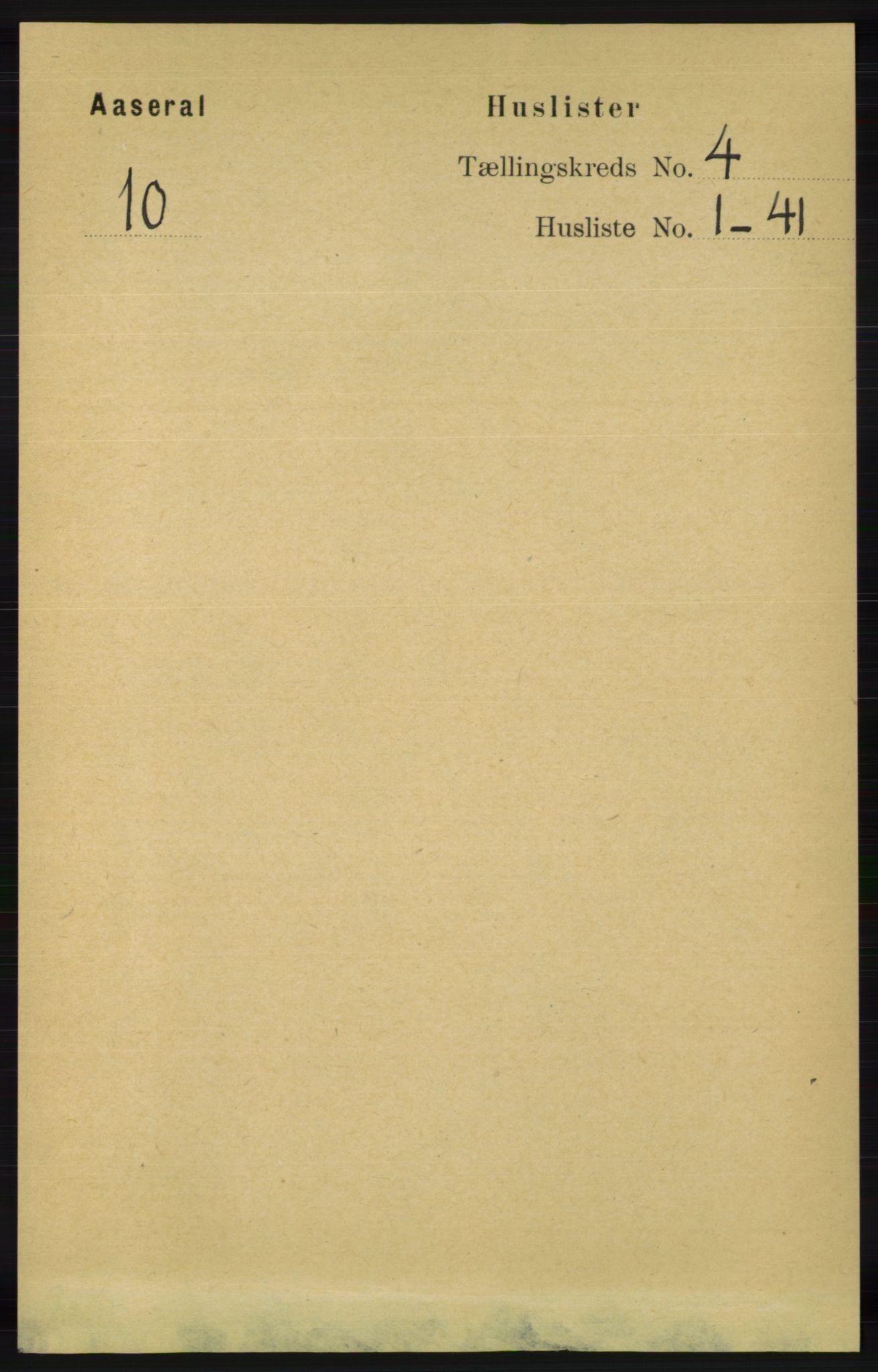 RA, Folketelling 1891 for 1026 Åseral herred, 1891, s. 1119