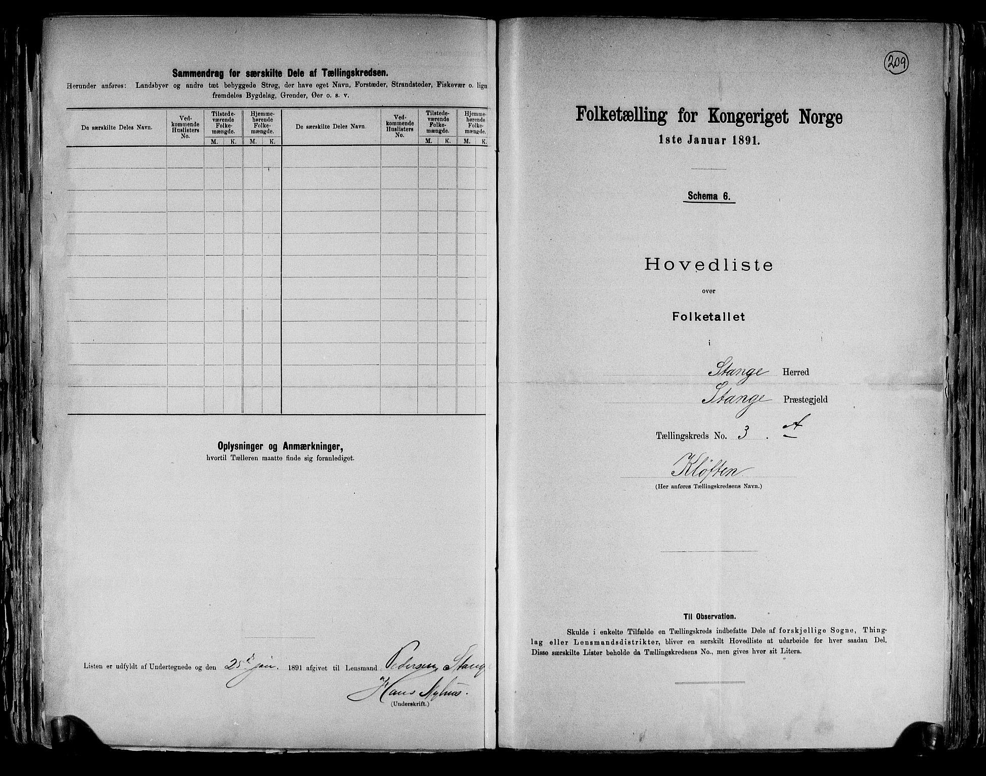 RA, Folketelling 1891 for 0417 Stange herred, 1891, s. 10