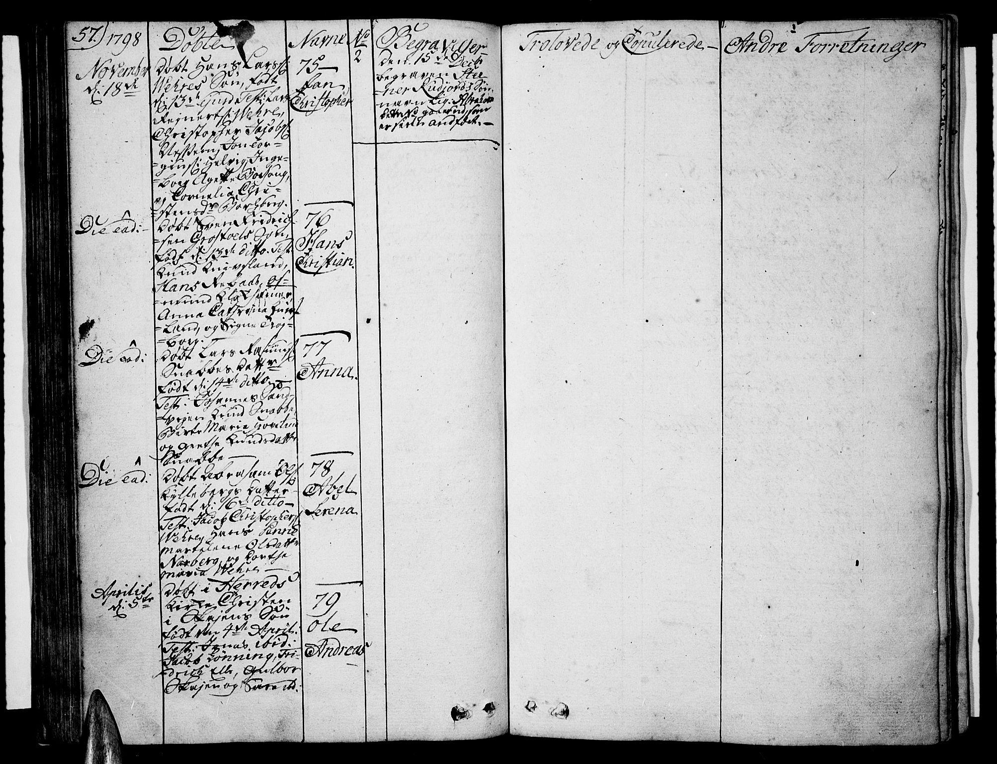 SAK, Lista sokneprestkontor, F/Fa/L0005: Ministerialbok nr. A 5, 1795-1823, s. 57