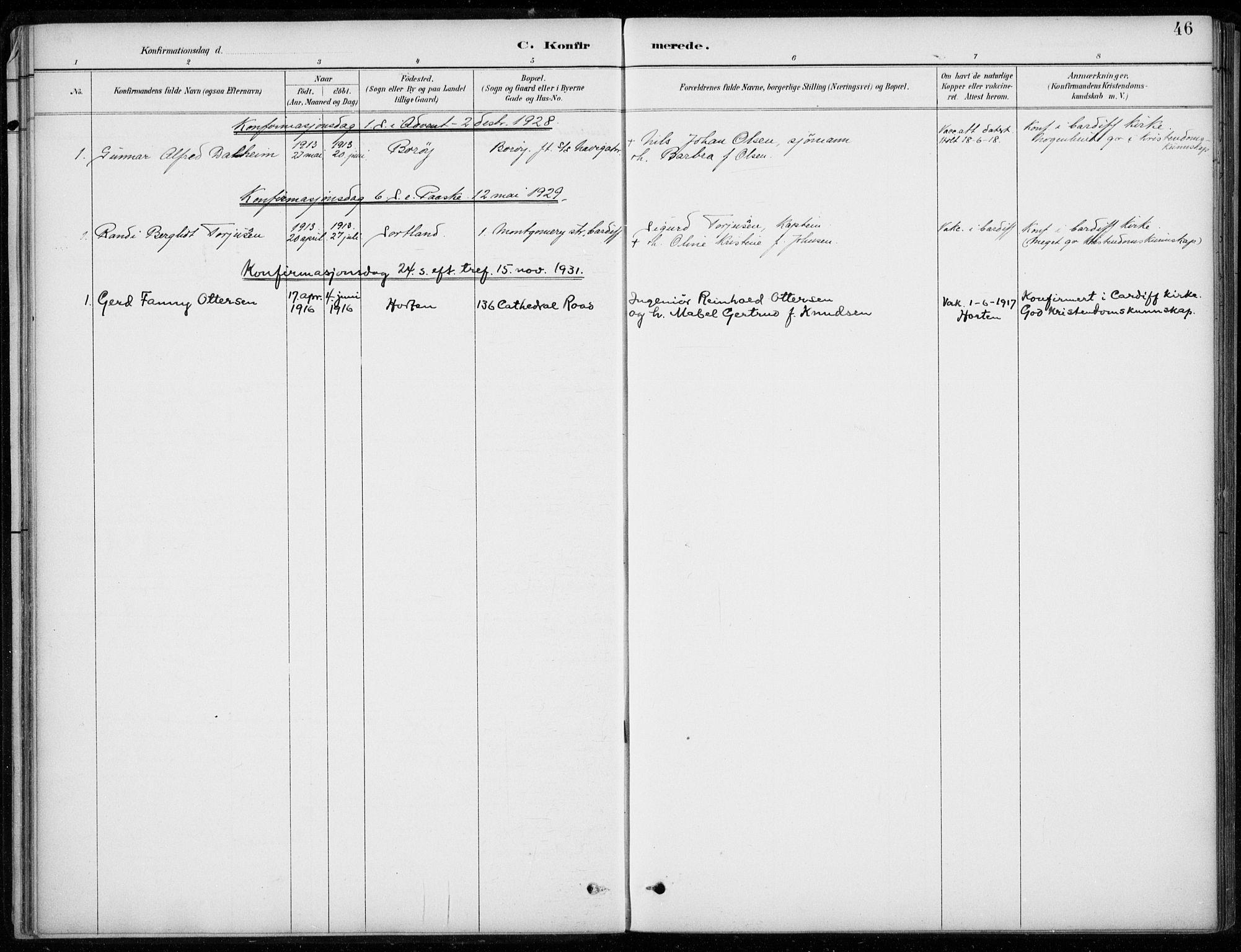 SAB, Den Norske Sjømannsmisjon i utlandet*, Ministerialbok nr. A 2, 1887-1932, s. 46