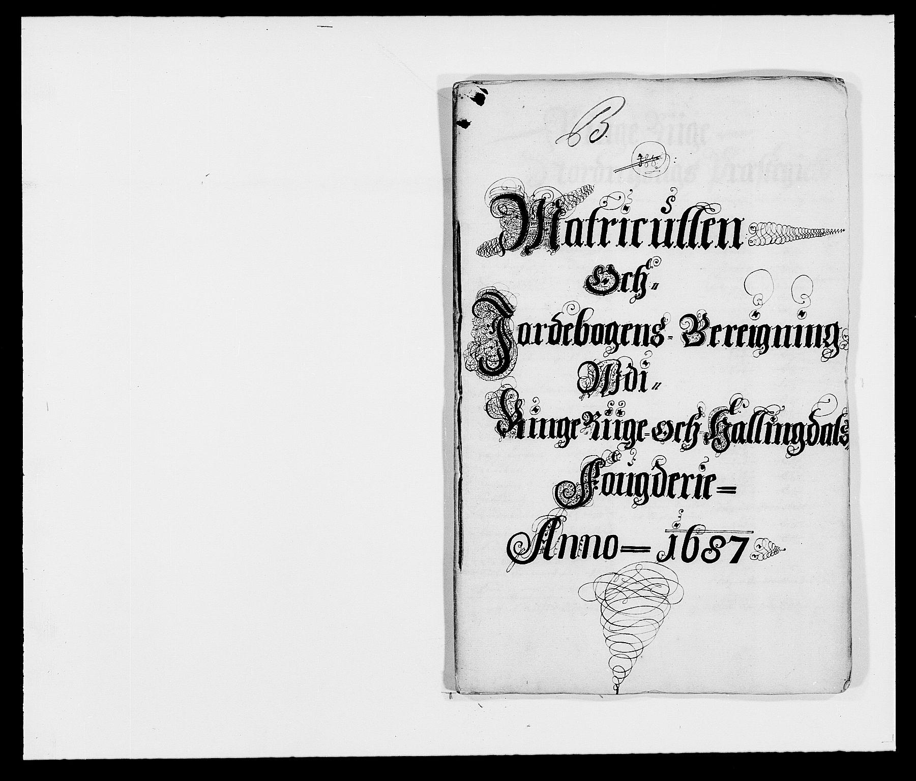 RA, Rentekammeret inntil 1814, Reviderte regnskaper, Fogderegnskap, R21/L1447: Fogderegnskap Ringerike og Hallingdal, 1687-1689, s. 11