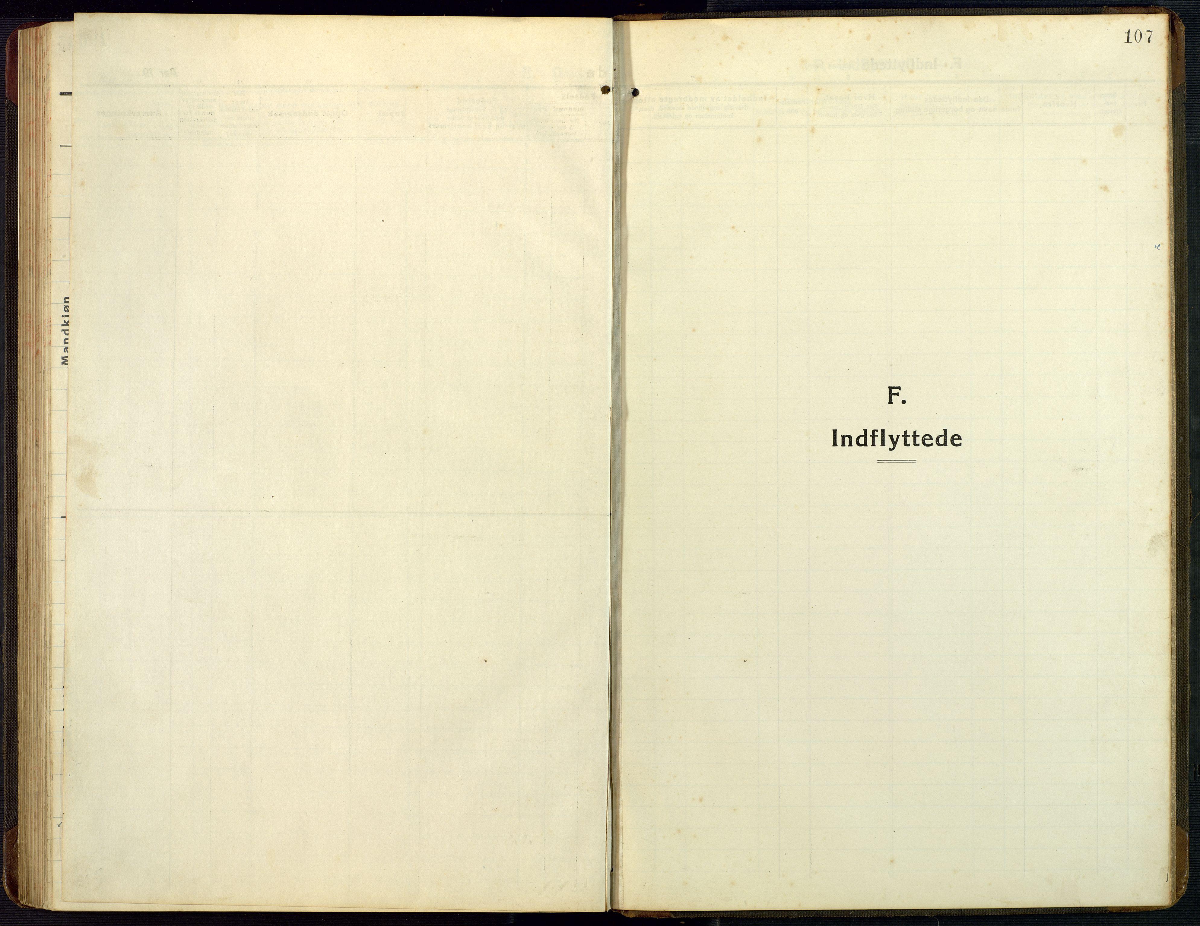SAK, Bygland sokneprestkontor, F/Fb/Fba/L0003: Klokkerbok nr. B 3, 1920-1974, s. 107