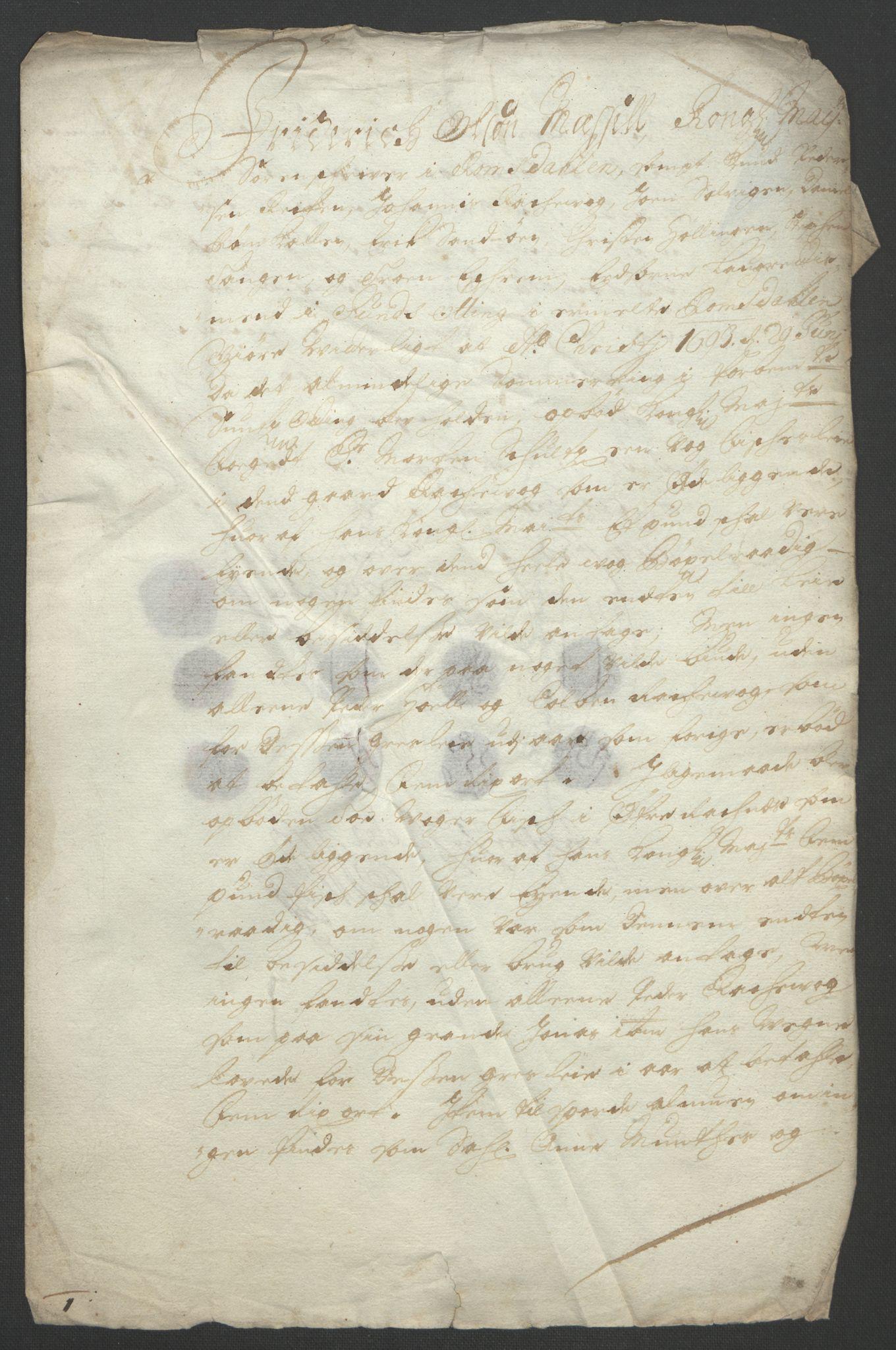 RA, Rentekammeret inntil 1814, Reviderte regnskaper, Fogderegnskap, R55/L3651: Fogderegnskap Romsdal, 1693-1694, s. 158