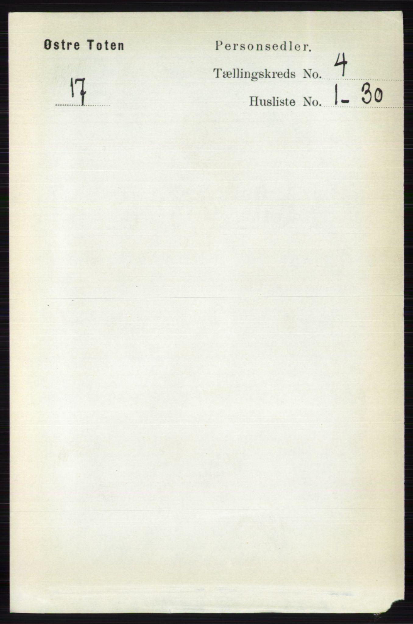 RA, Folketelling 1891 for 0528 Østre Toten herred, 1891, s. 2379